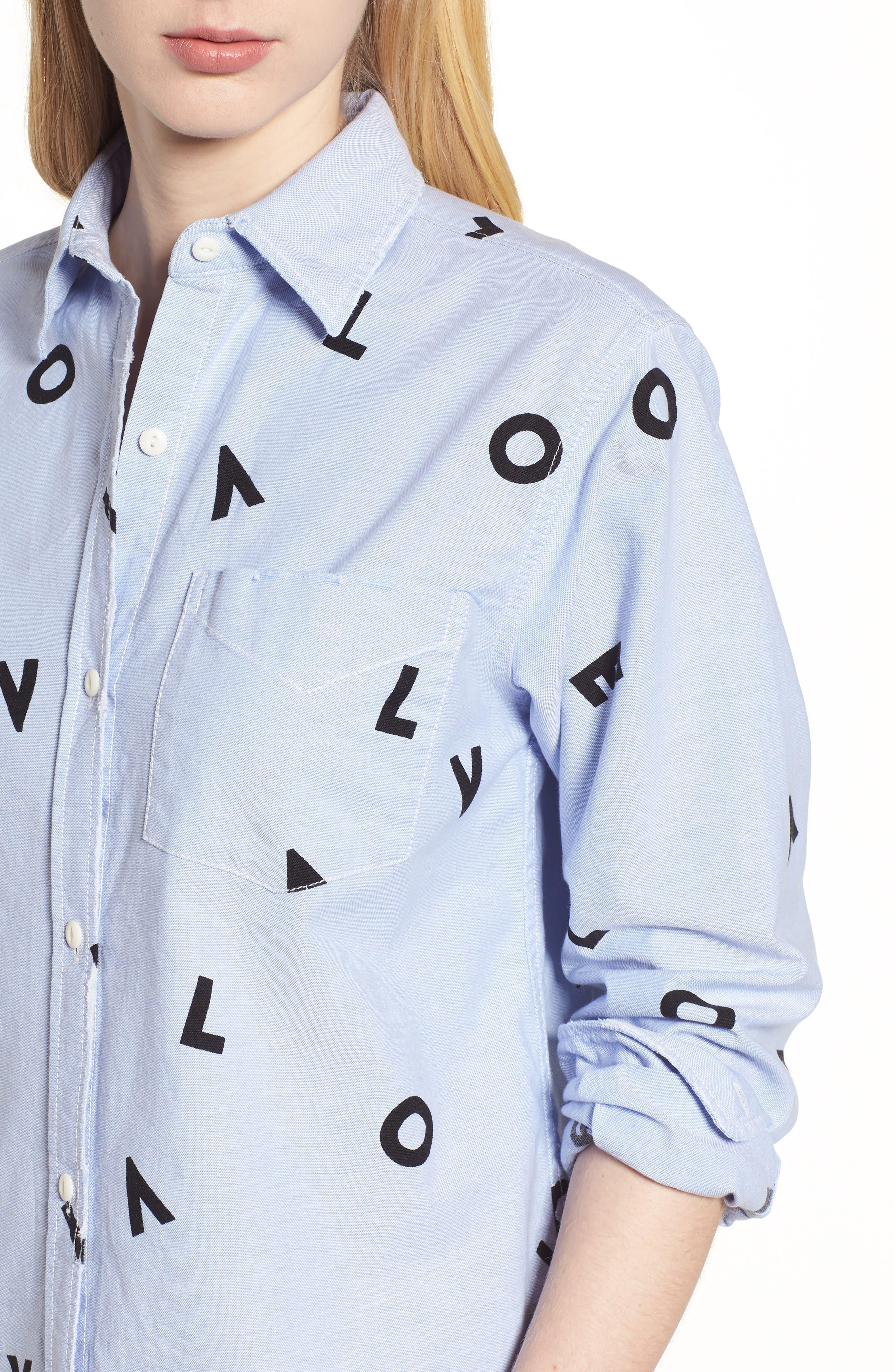 Alternate Image 4  - Current/Elliott The Derby Love Print Shirt