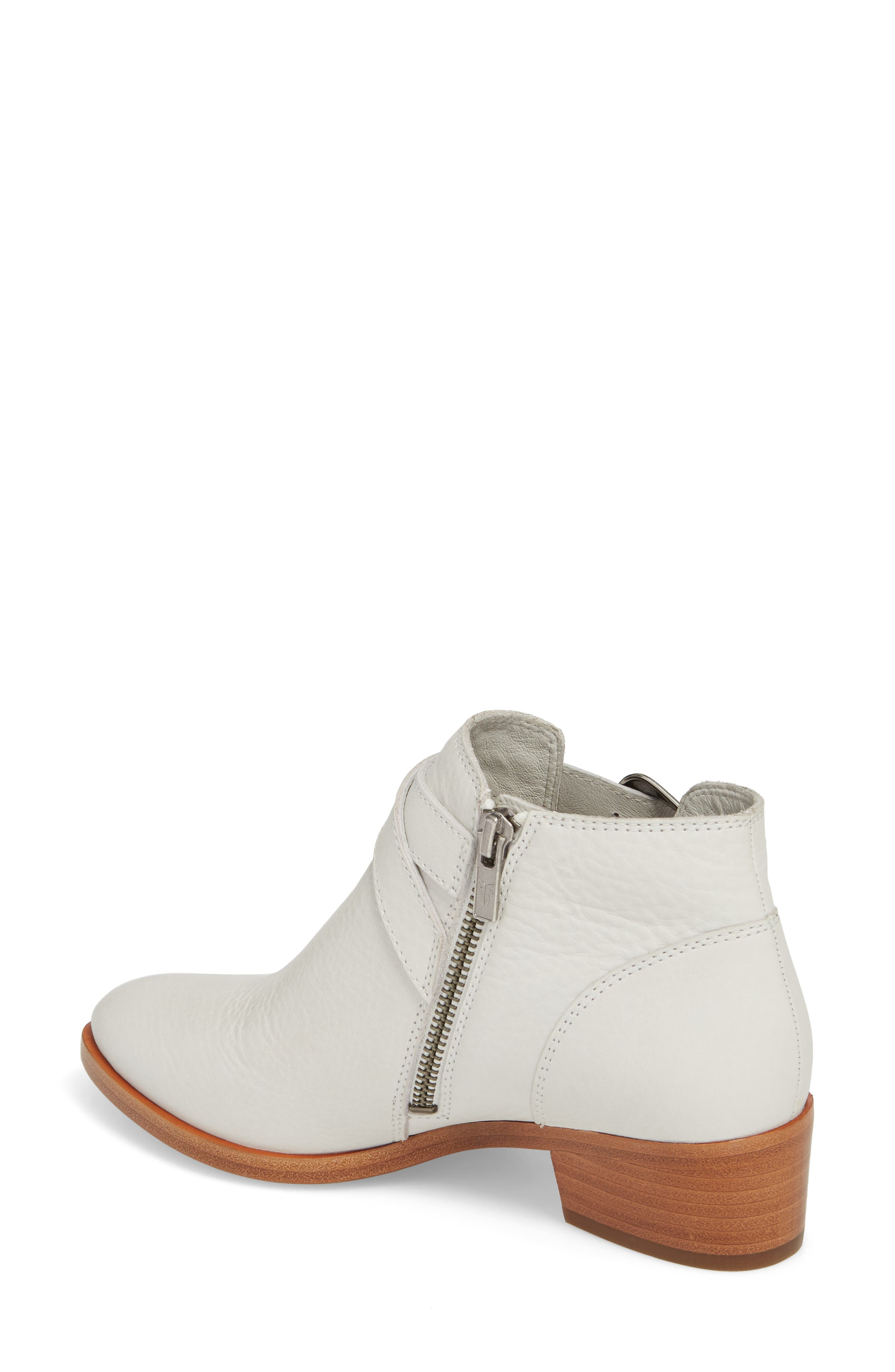 Ray Western Bootie,                             Alternate thumbnail 2, color,                             White/ White Leather