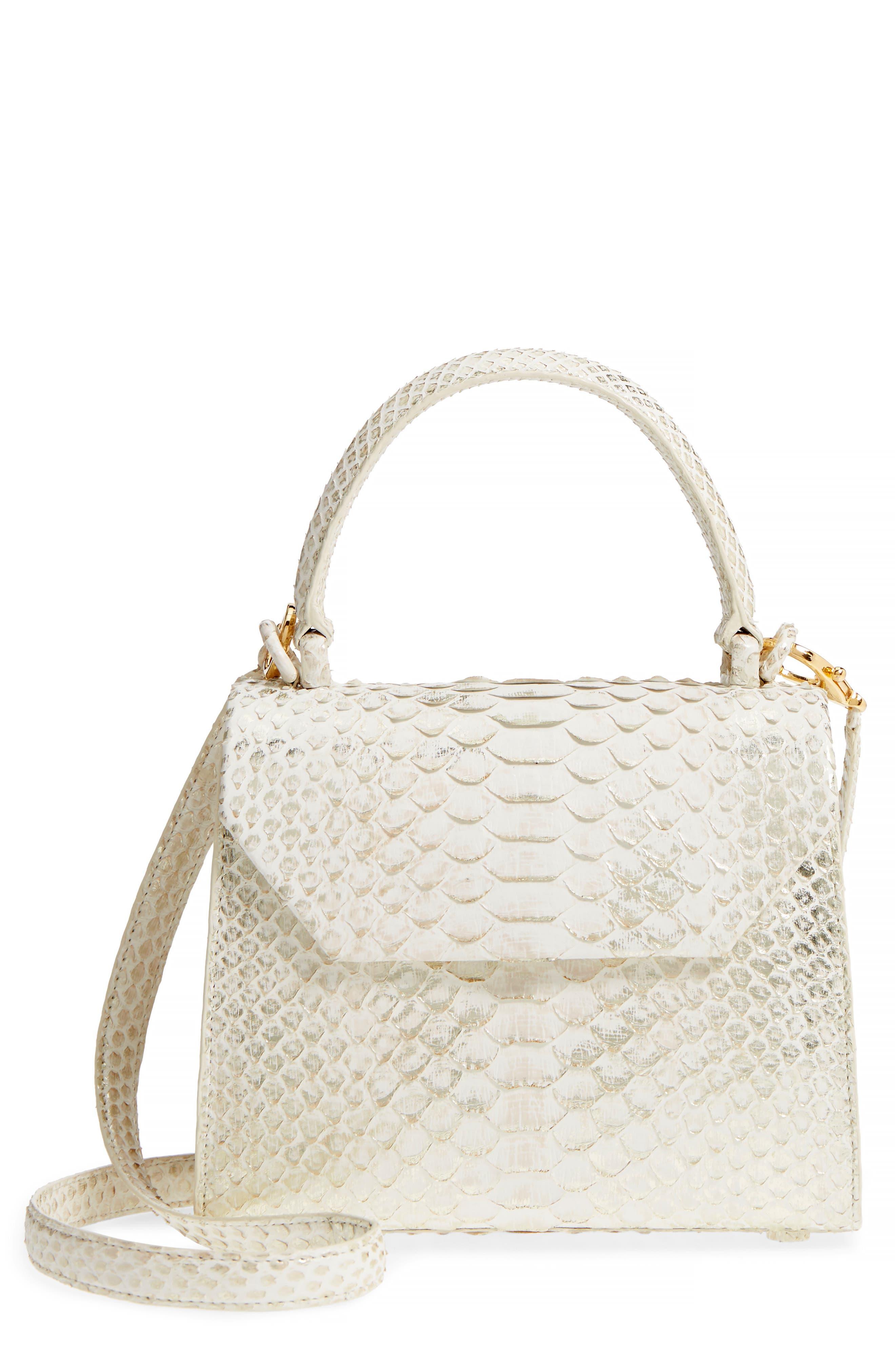 Nancy Gonzalez Mini Lily Genuine Python Crossbody Bag