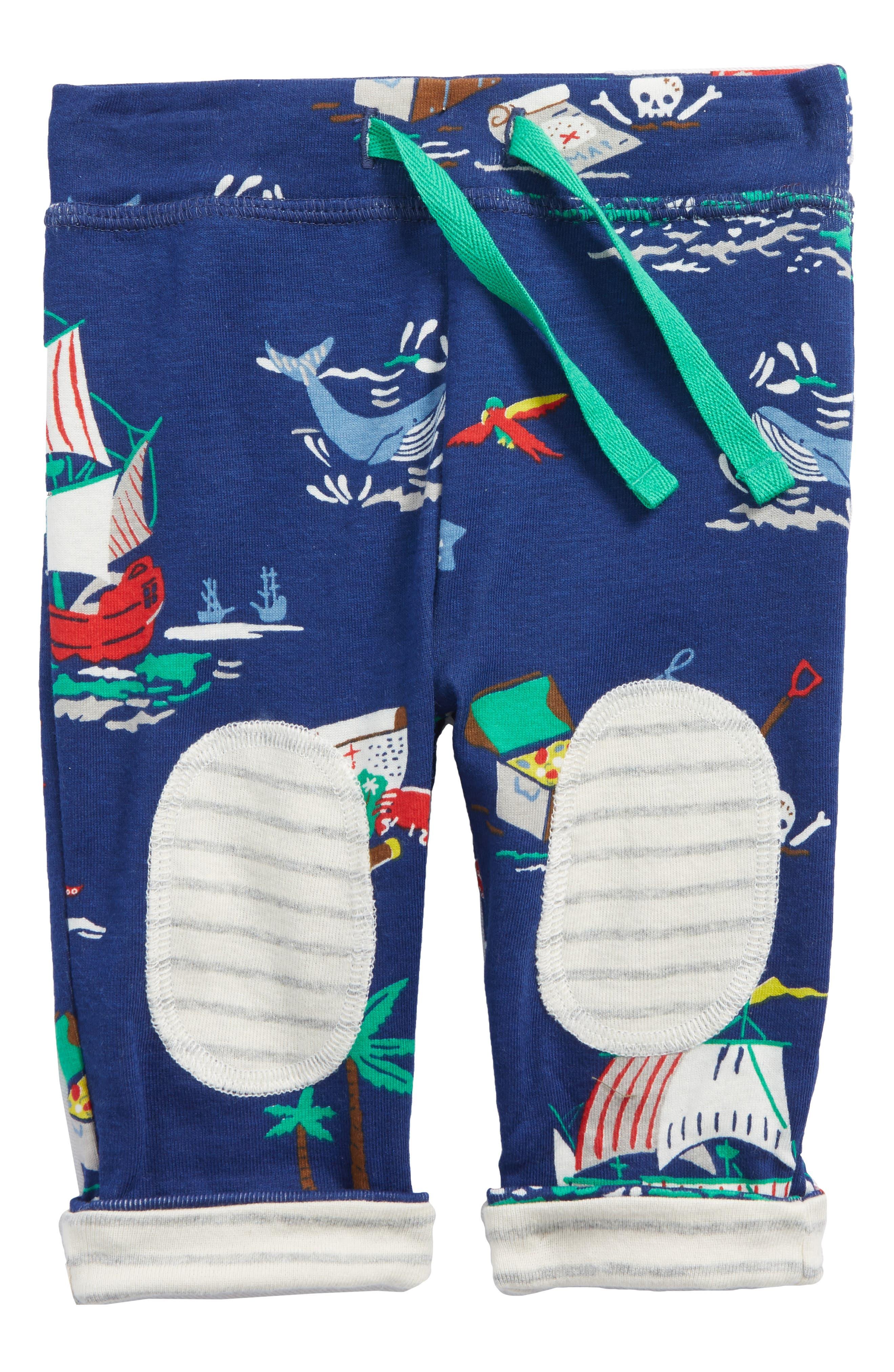 Reversible Knee Patch Pants,                         Main,                         color, Beacon Blue/ Pirate Ship