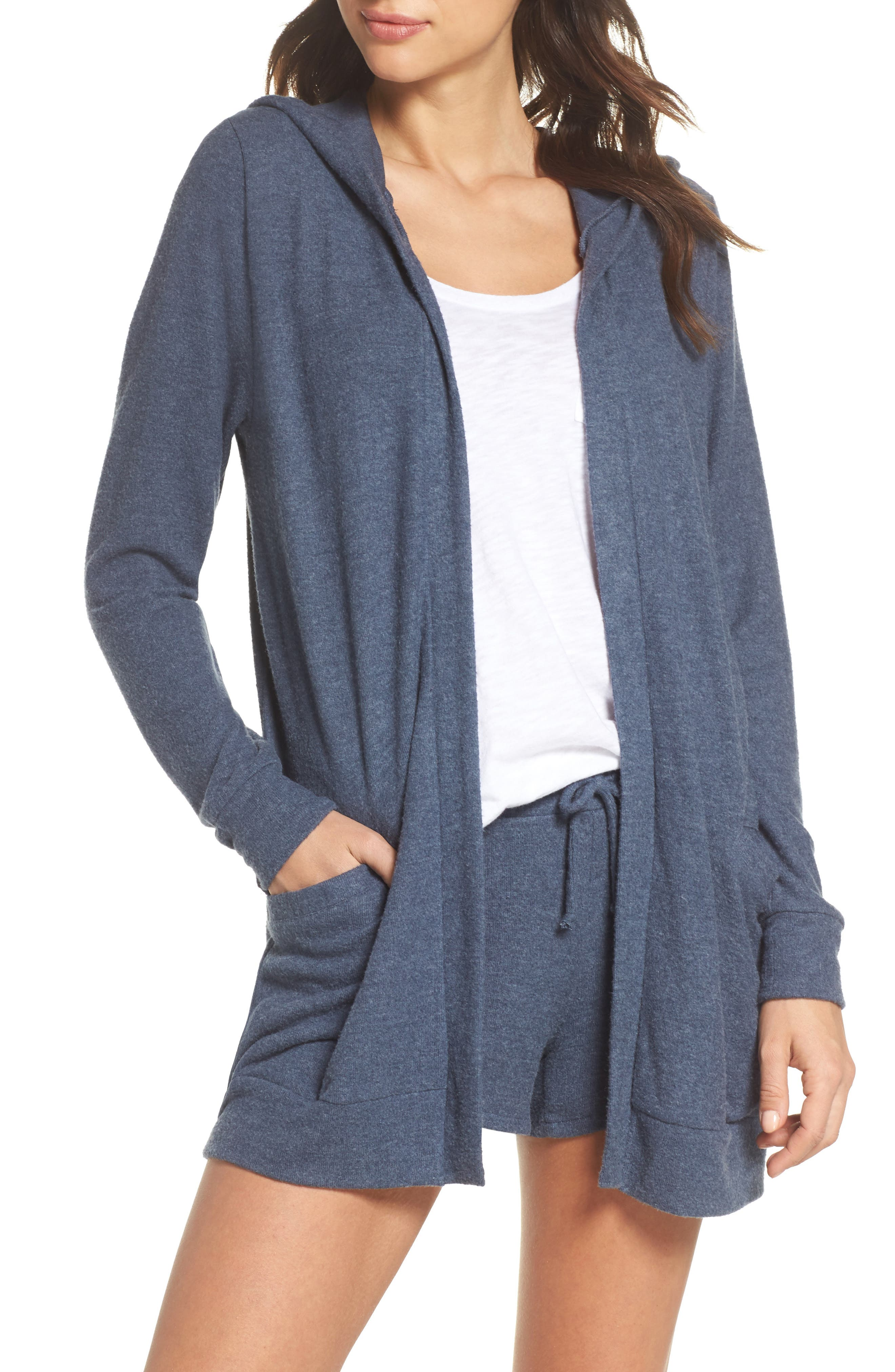 Chaser Love Lace-Up Hooded Cardigan
