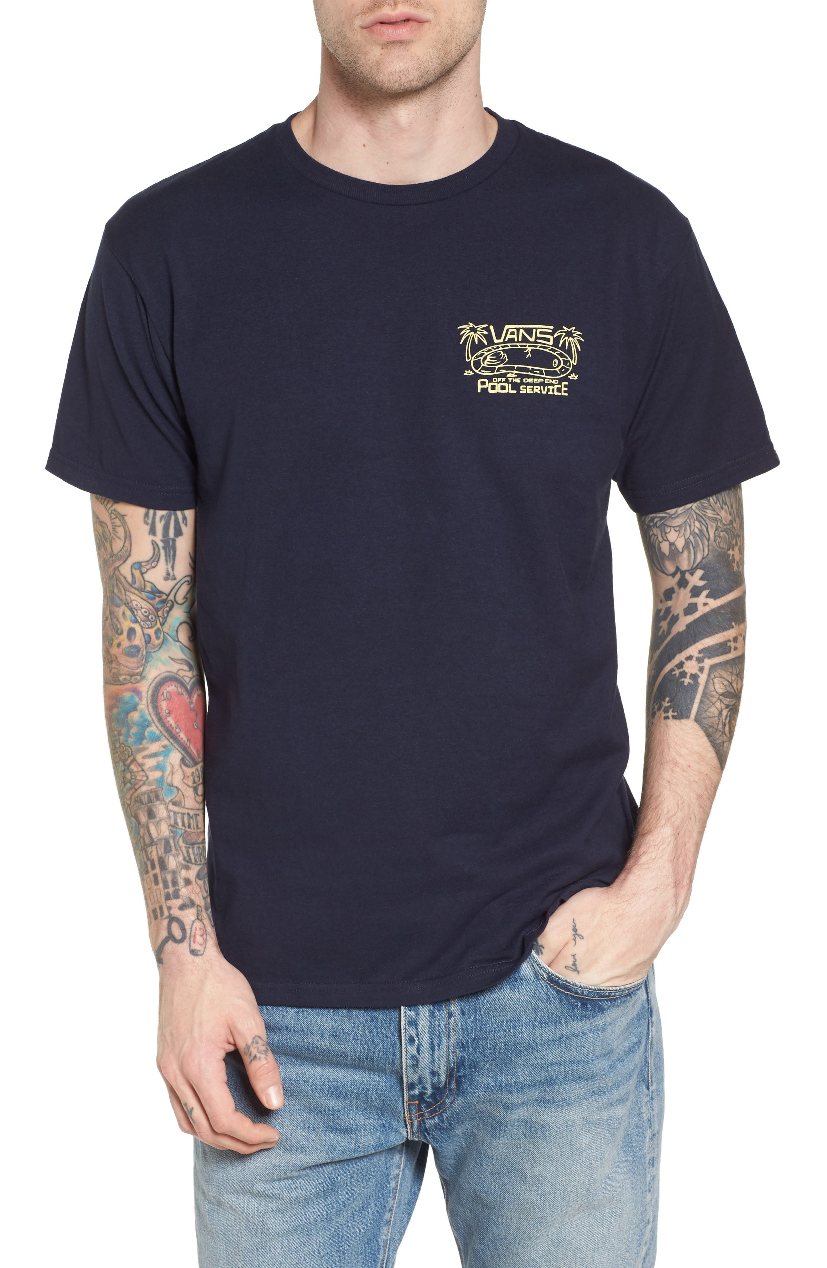 No Water No Problem Graphic T-Shirt,                         Main,                         color, Navy