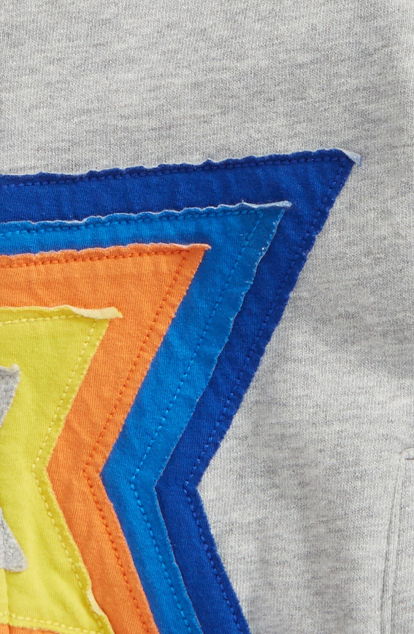 Starry Zip Hoodie,                             Alternate thumbnail 2, color,                             Grey Marl