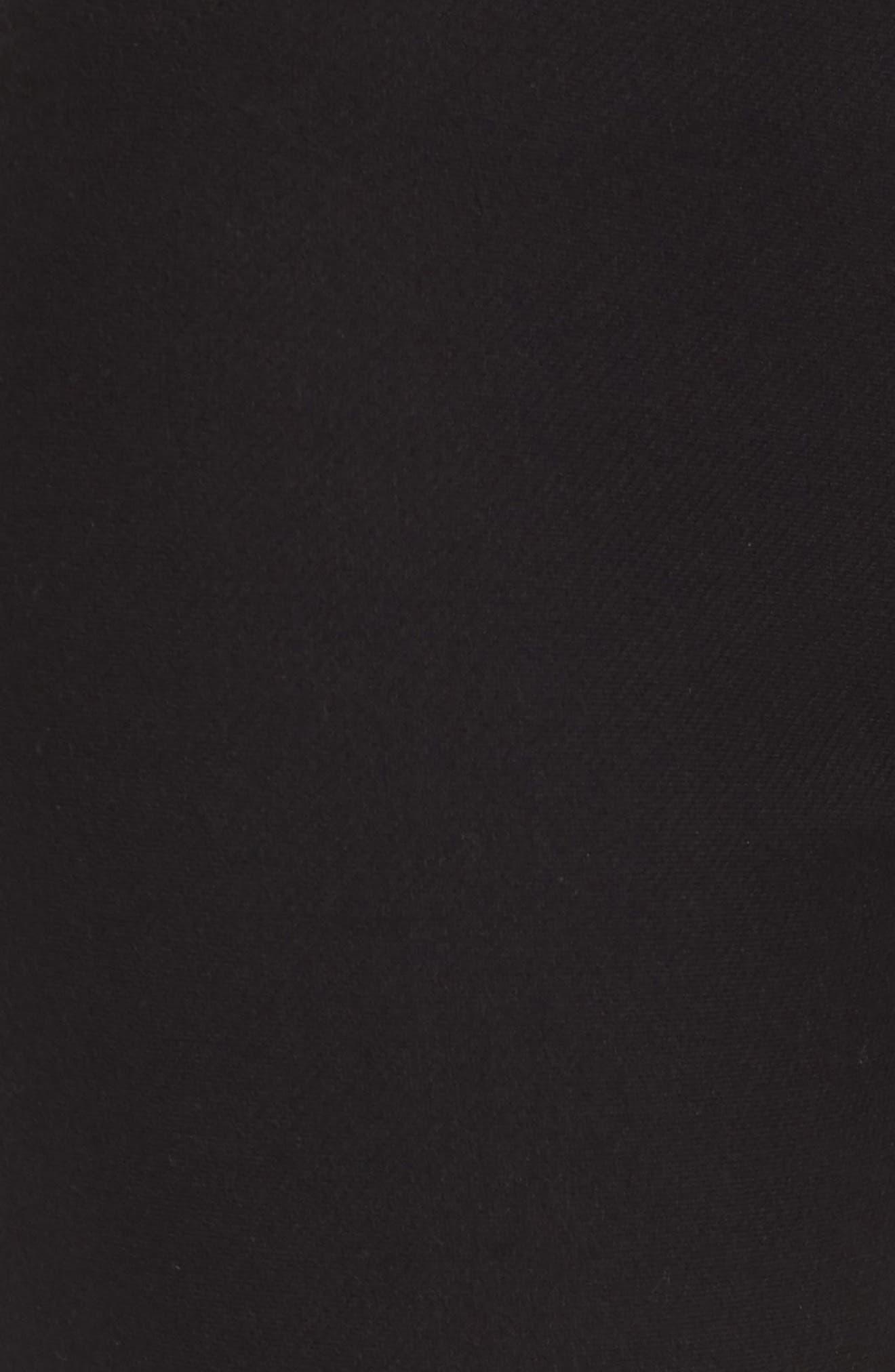 Basic Denim Leggings,                             Alternate thumbnail 5, color,                             Black
