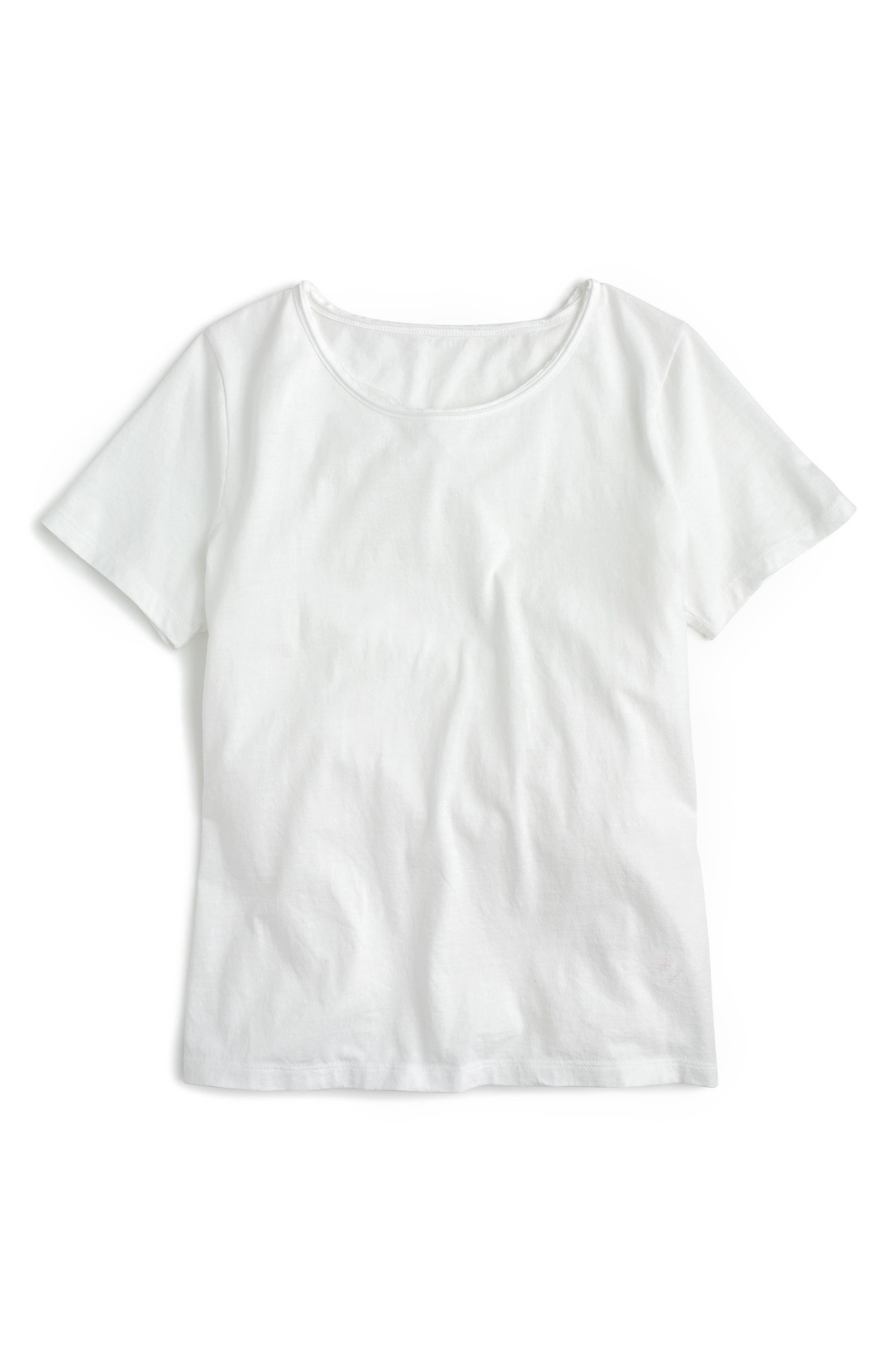 J.Crew New Crewneck Tee,                             Alternate thumbnail 2, color,                             White