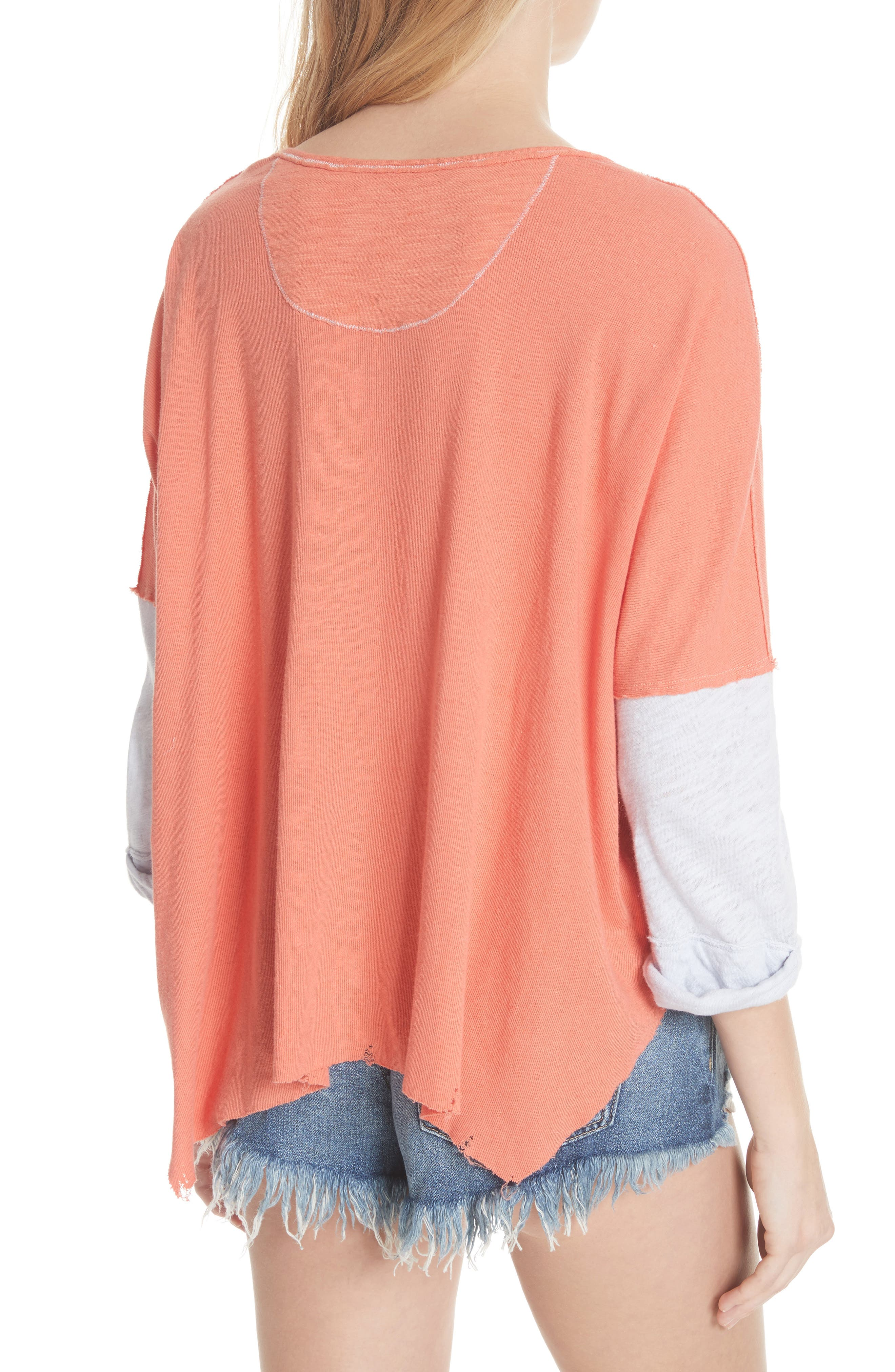We the Free Star Henley Top,                             Alternate thumbnail 2, color,                             Coral