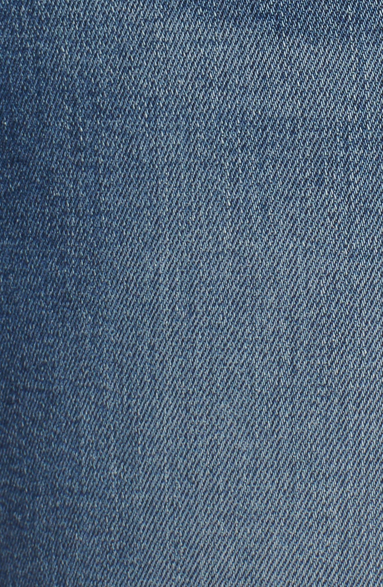 Cuffed Bermuda Denim Shorts,                             Alternate thumbnail 5, color,                             Lilac W/ Med Base