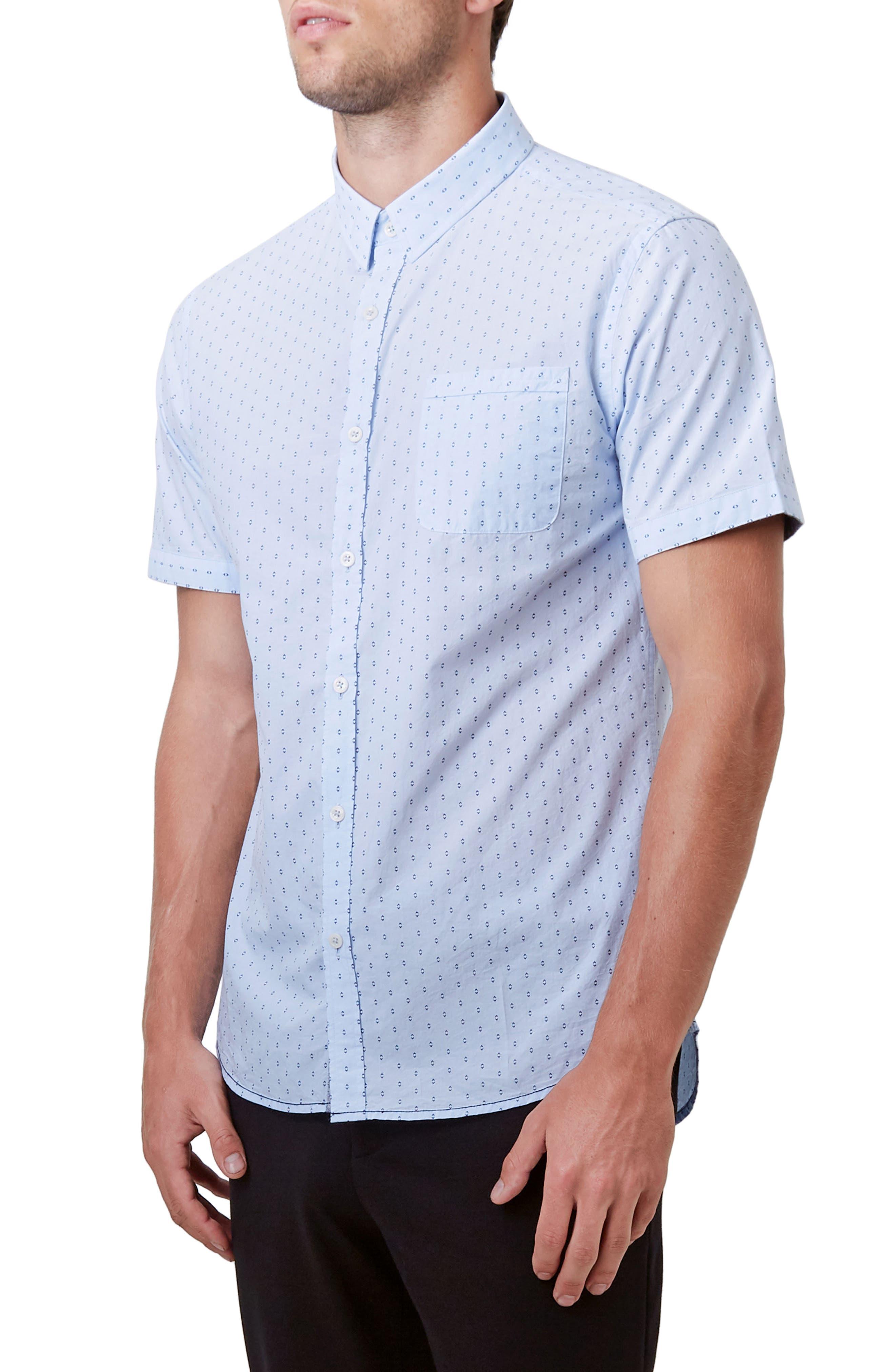 Automation Woven Shirt,                             Alternate thumbnail 3, color,                             Lt. Blue