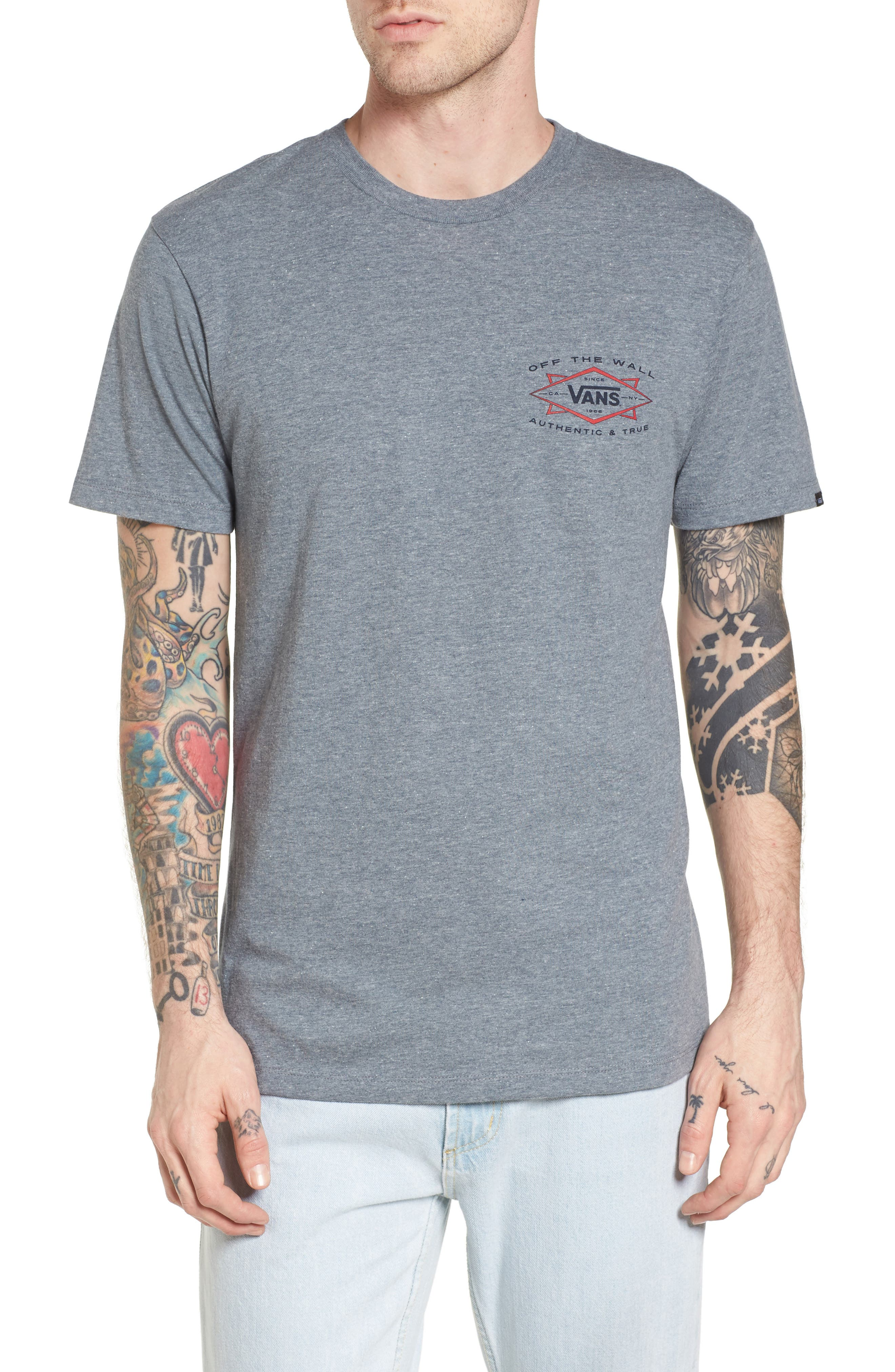 Off the Wall Shaper Graphic T-Shirt,                         Main,                         color, Heather Grey