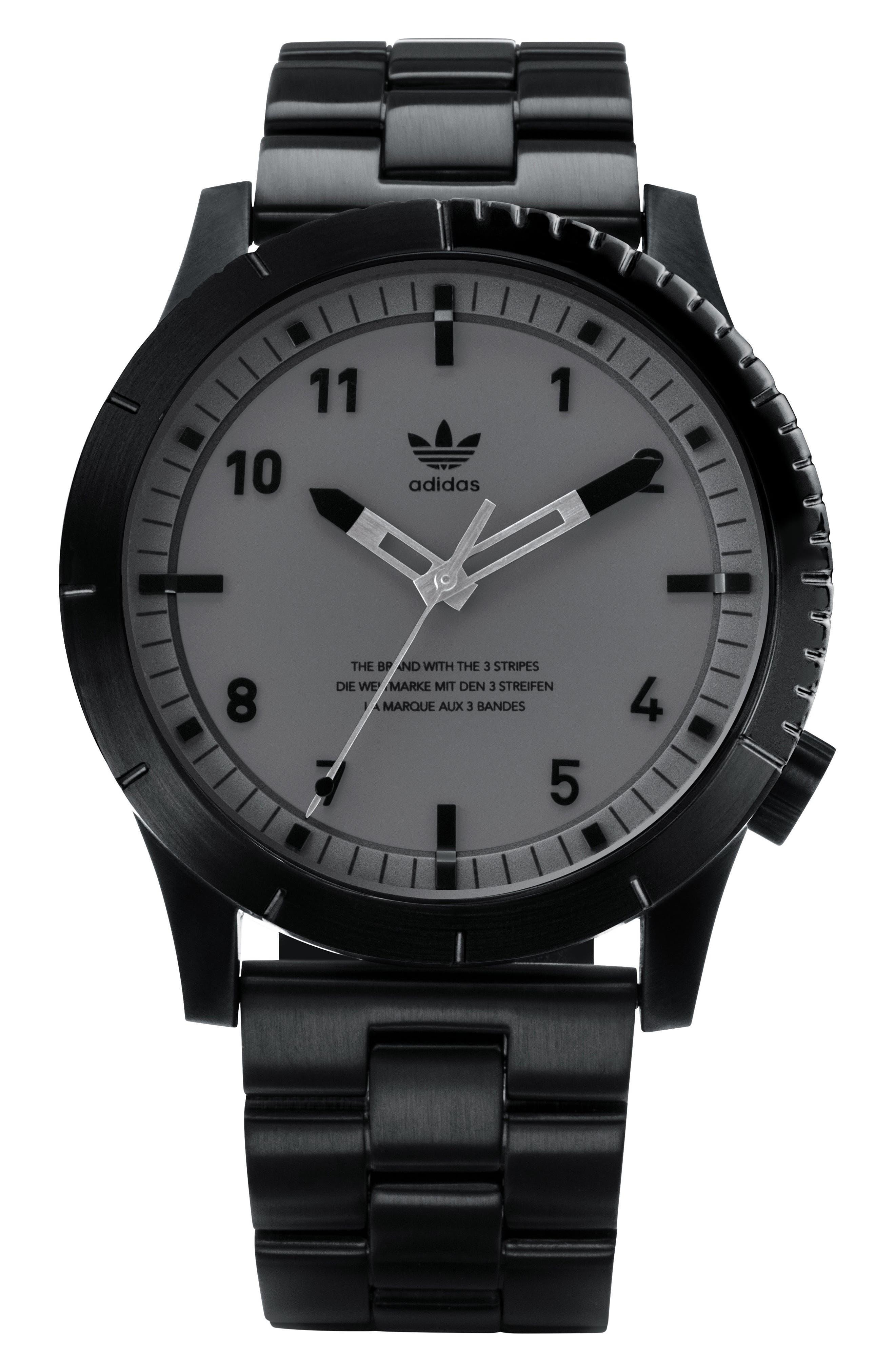 Cypher Bracelet Watch, 42mm,                             Main thumbnail 1, color,                             Black/ Charcoal