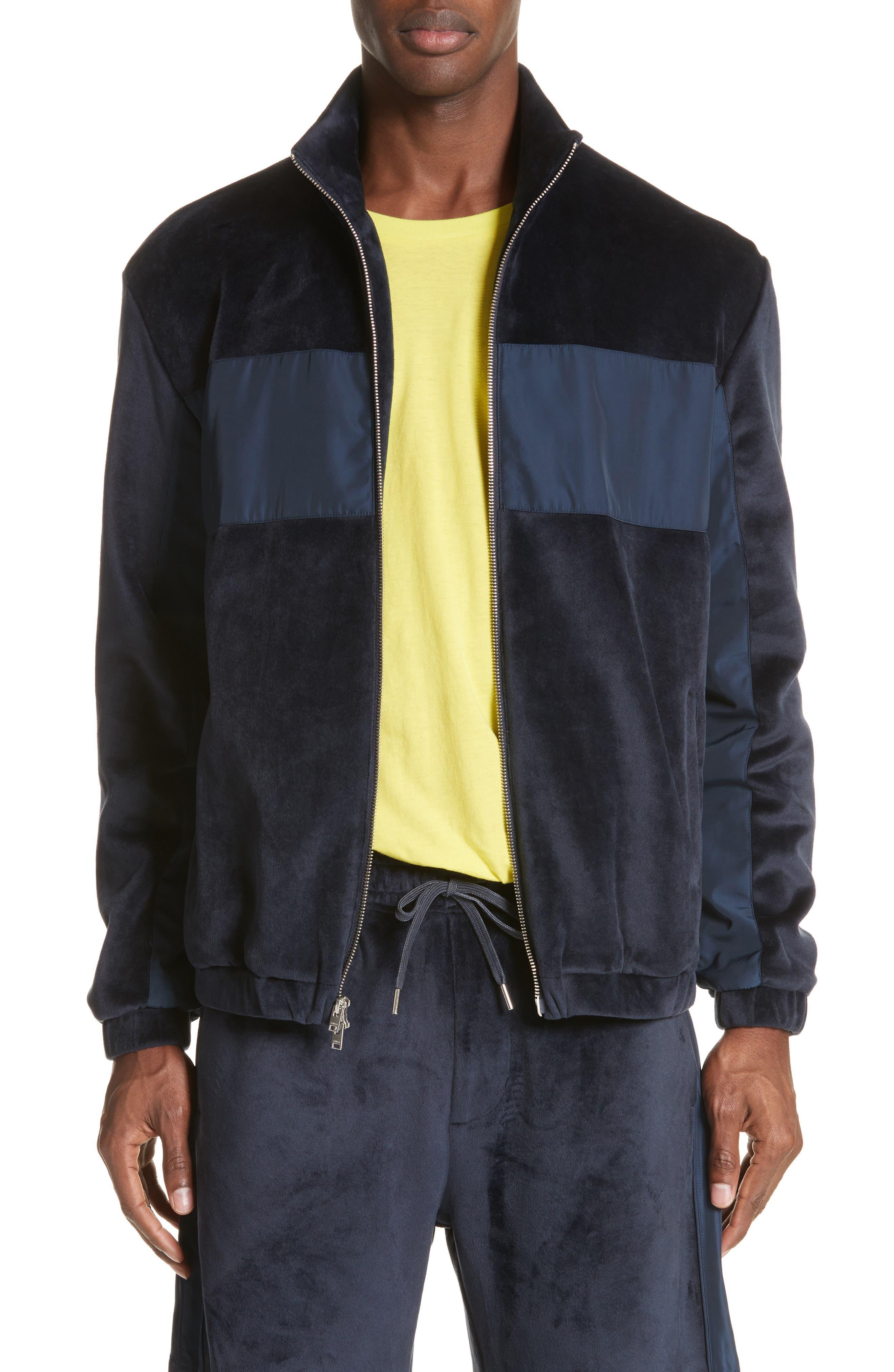 Headland Velour Track Jacket,                         Main,                         color, Slate