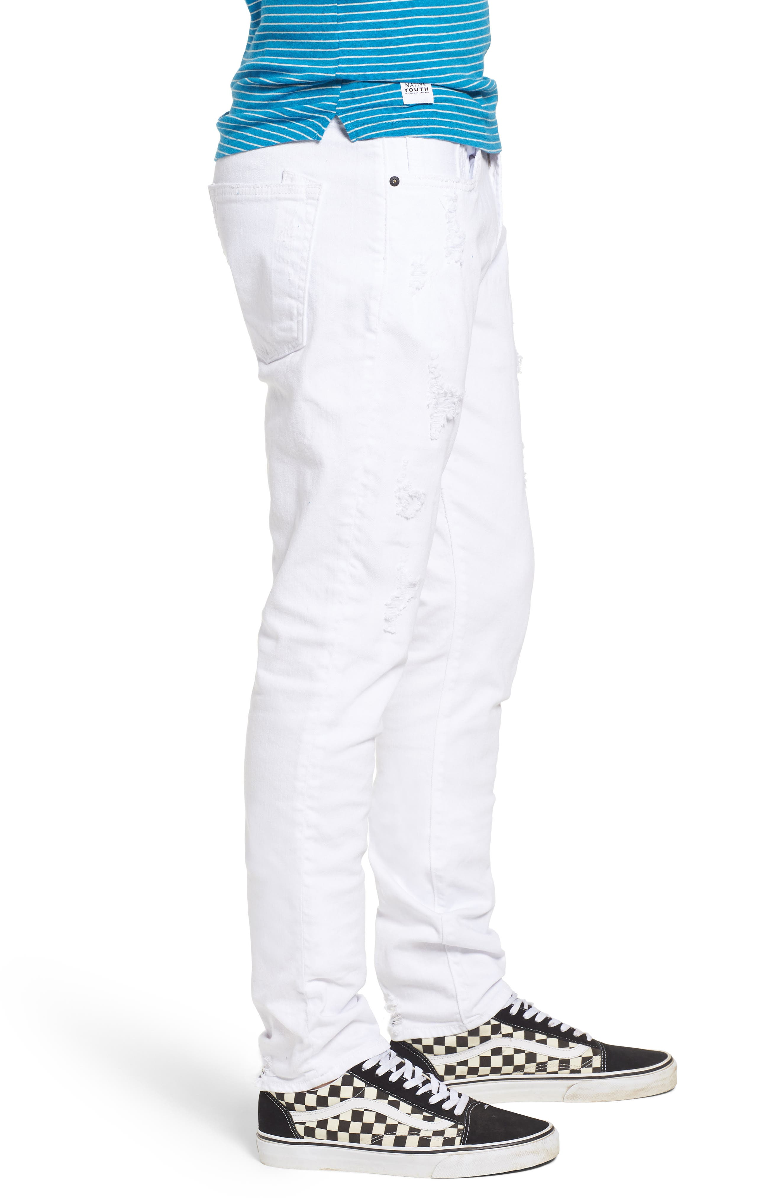 Windsor Slim Fit Jeans,                             Alternate thumbnail 3, color,                             Living White