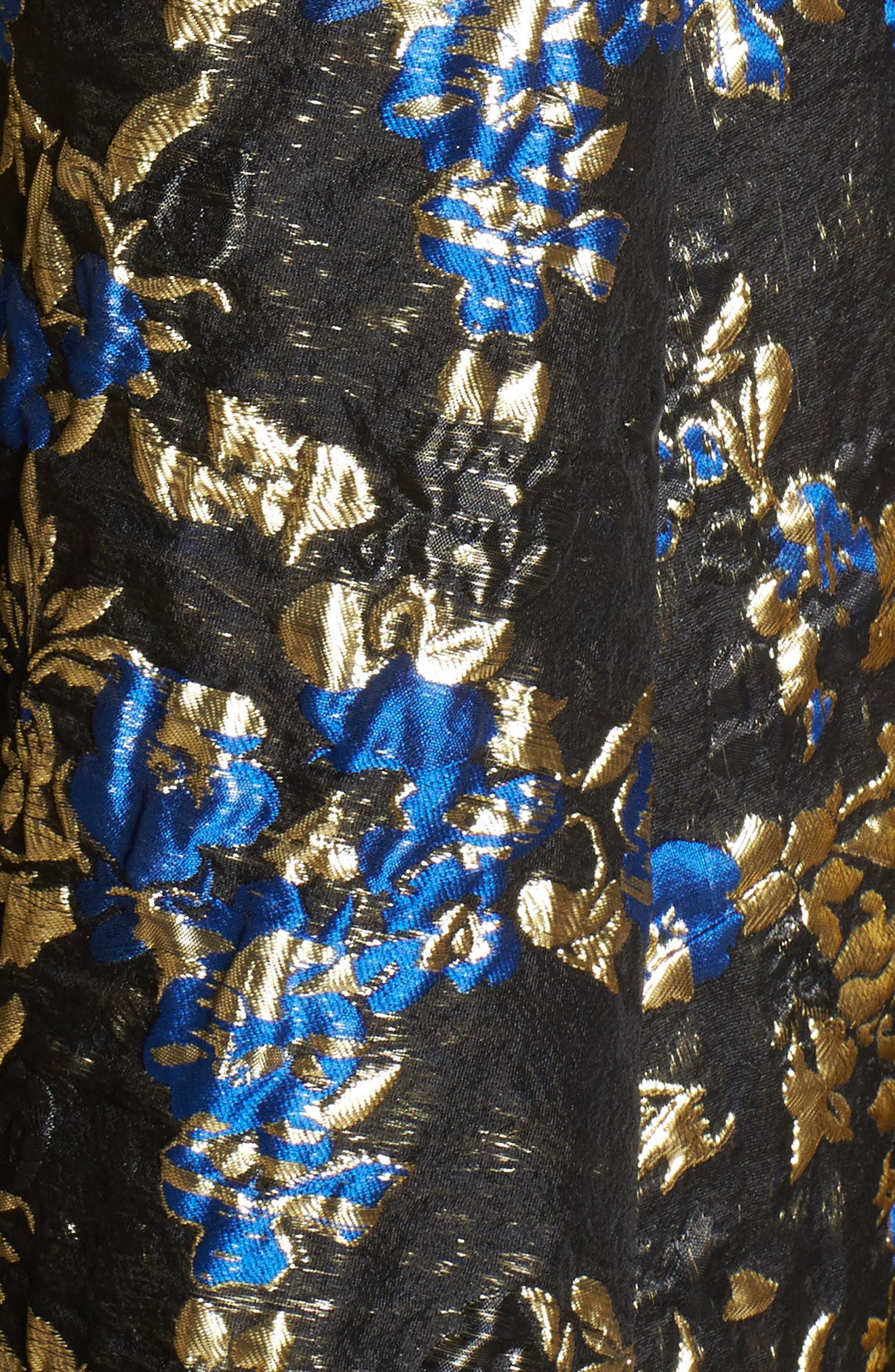 Brocade Bustier Gown,                             Alternate thumbnail 5, color,                             Royal/ Black