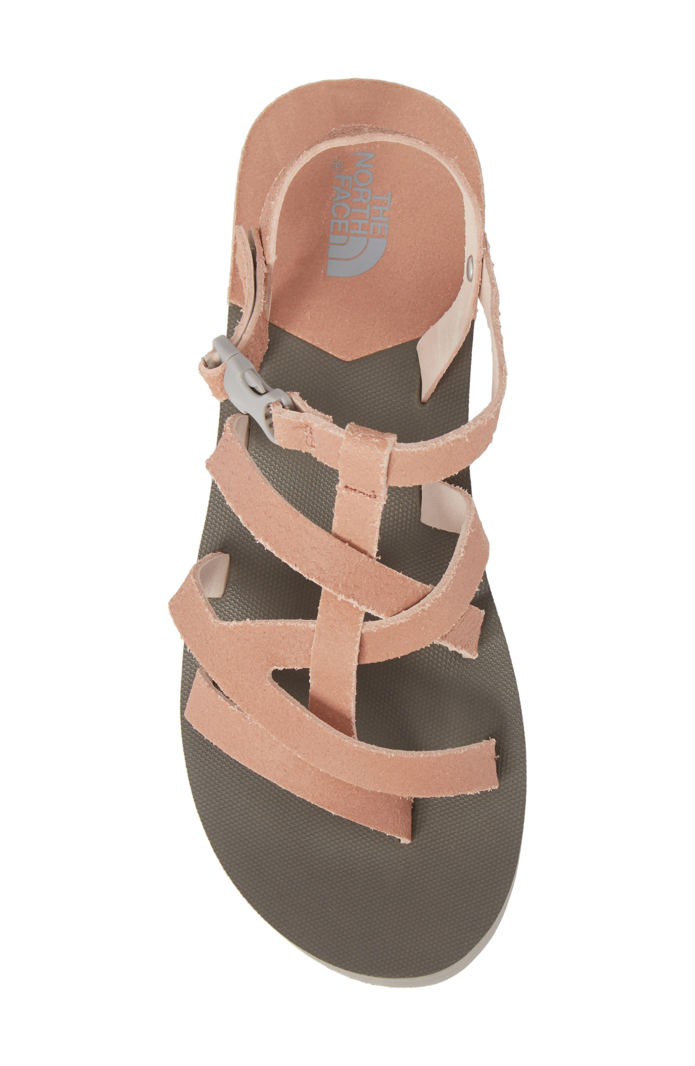 Base Camp Plus II Gladiator Sandal,                             Alternate thumbnail 5, color,                             Evening Sand Pink/ Foil Grey