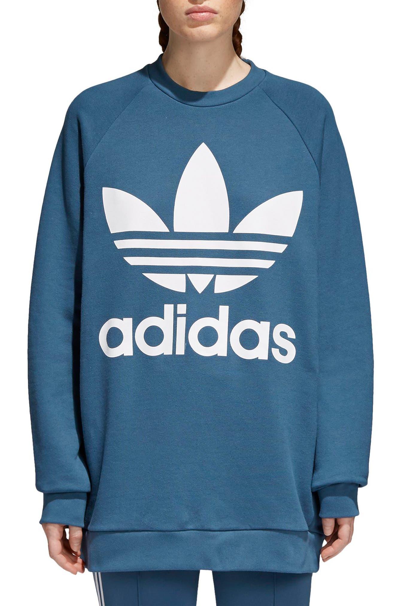 Originals Oversize Sweatshirt,                             Main thumbnail 1, color,                             Dark Steel