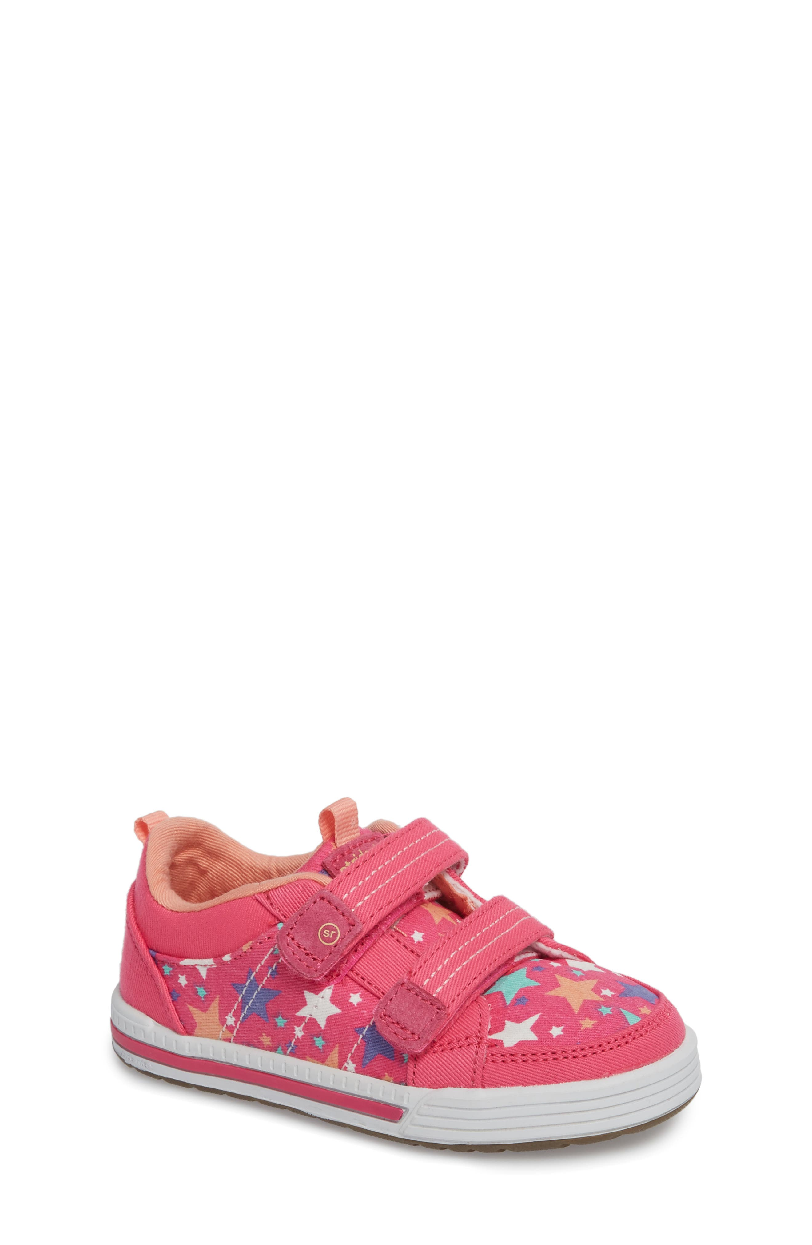 Stride Rite Logan Patterned Sneaker (Baby, Walker & Toddler)