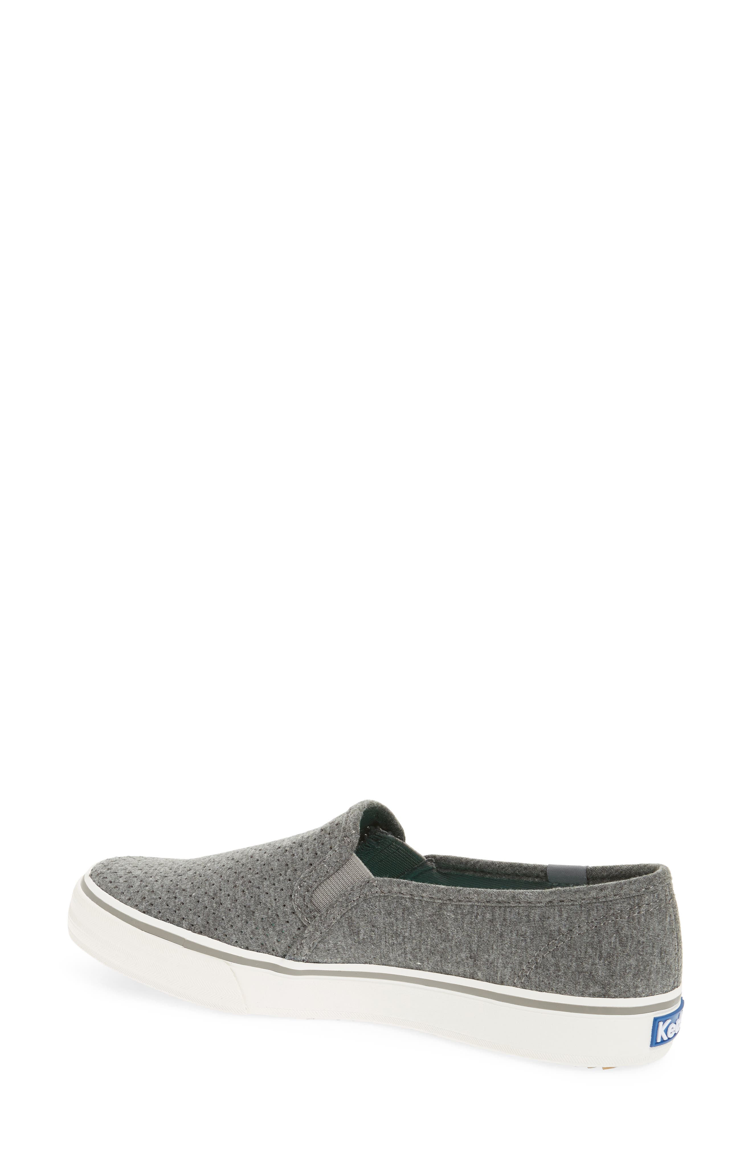 Double Decker Perforated Slip-On Sneaker,                             Alternate thumbnail 2, color,                             Charcoal