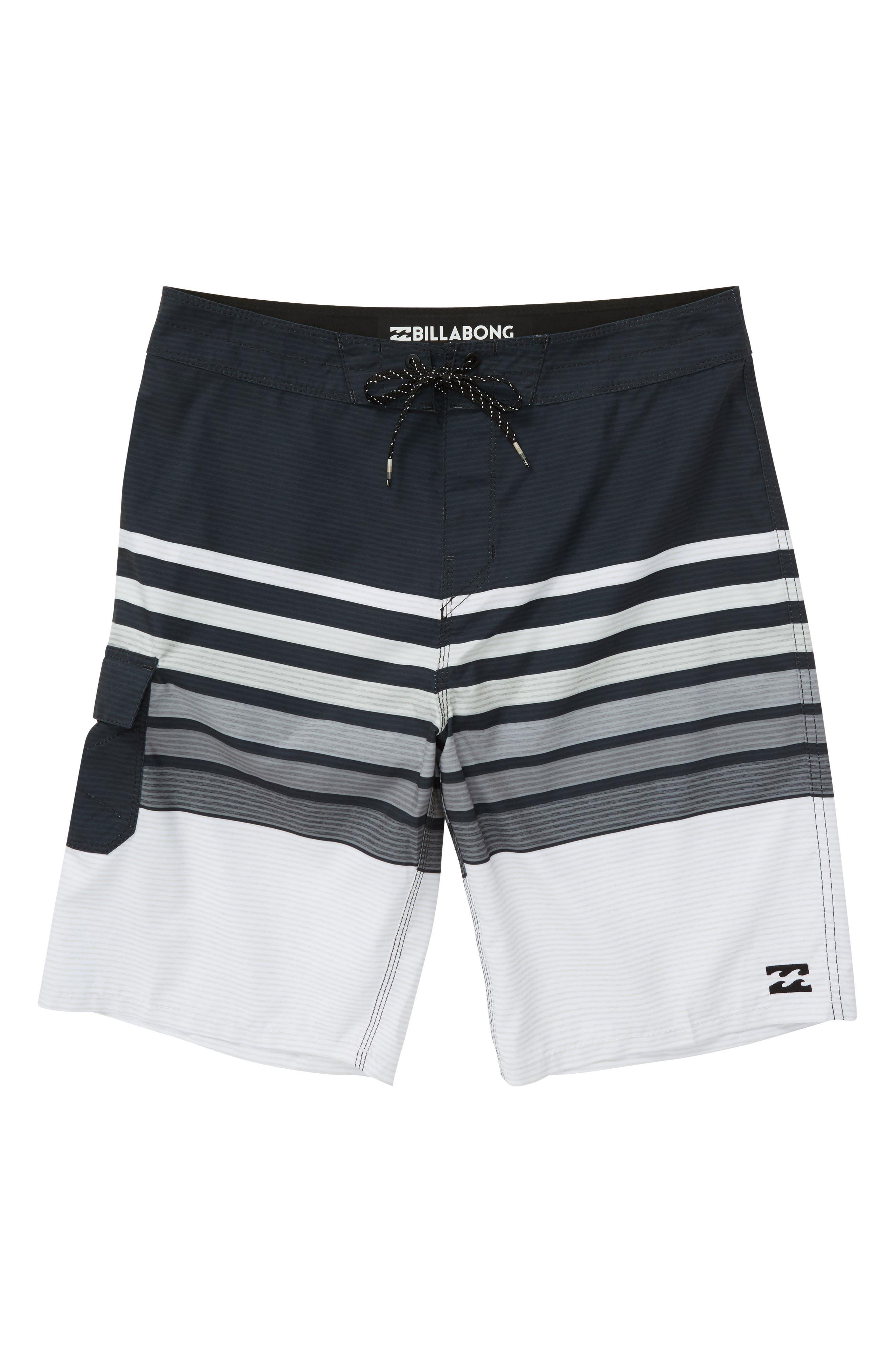 All Day OG Stripe Board Shorts,                         Main,                         color, Black