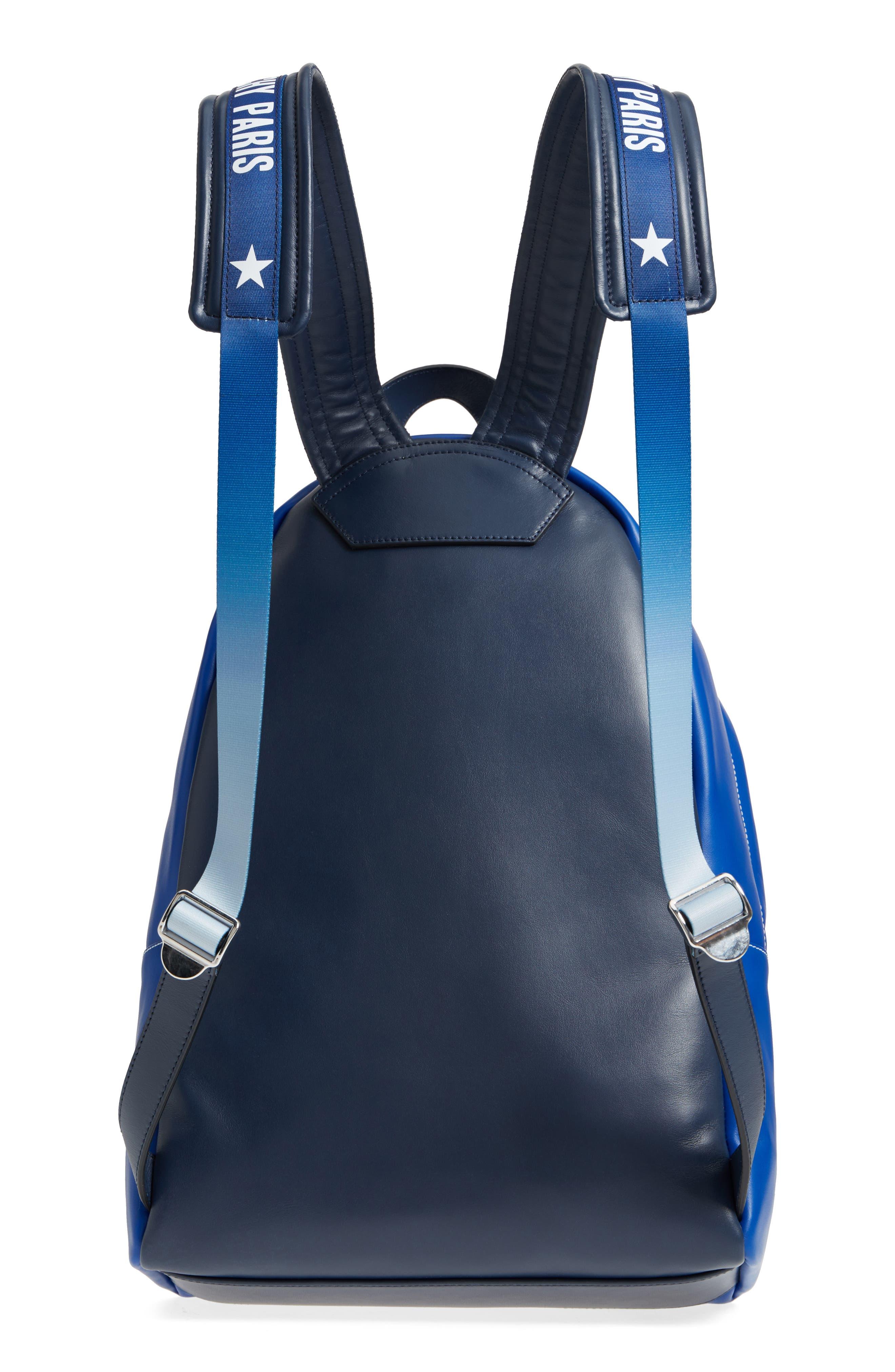 Logo Strap Backpack,                             Alternate thumbnail 3, color,                             Morroccan Blue