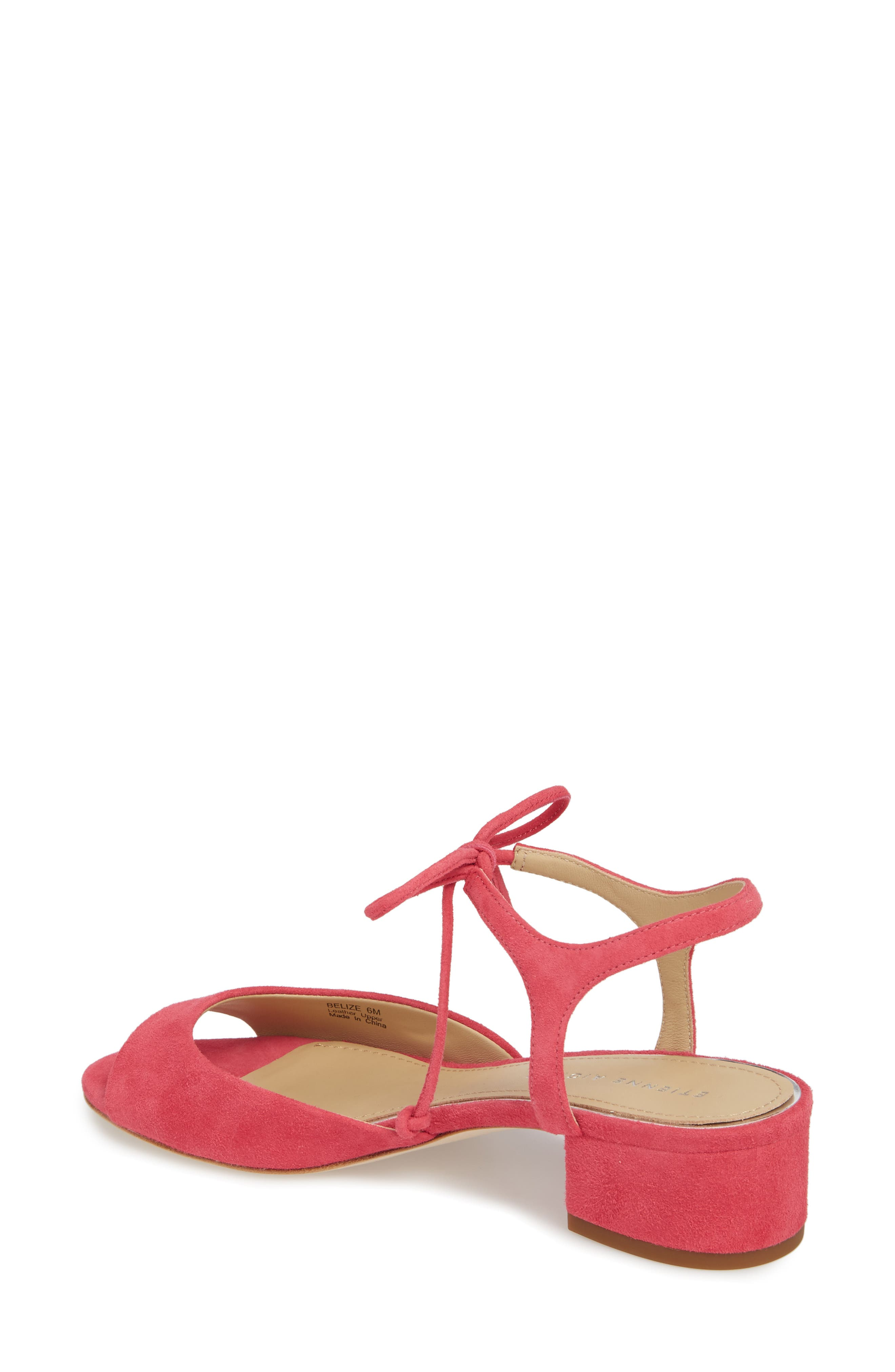 Belize Strappy Sandal,                             Alternate thumbnail 2, color,                             Peony Suede