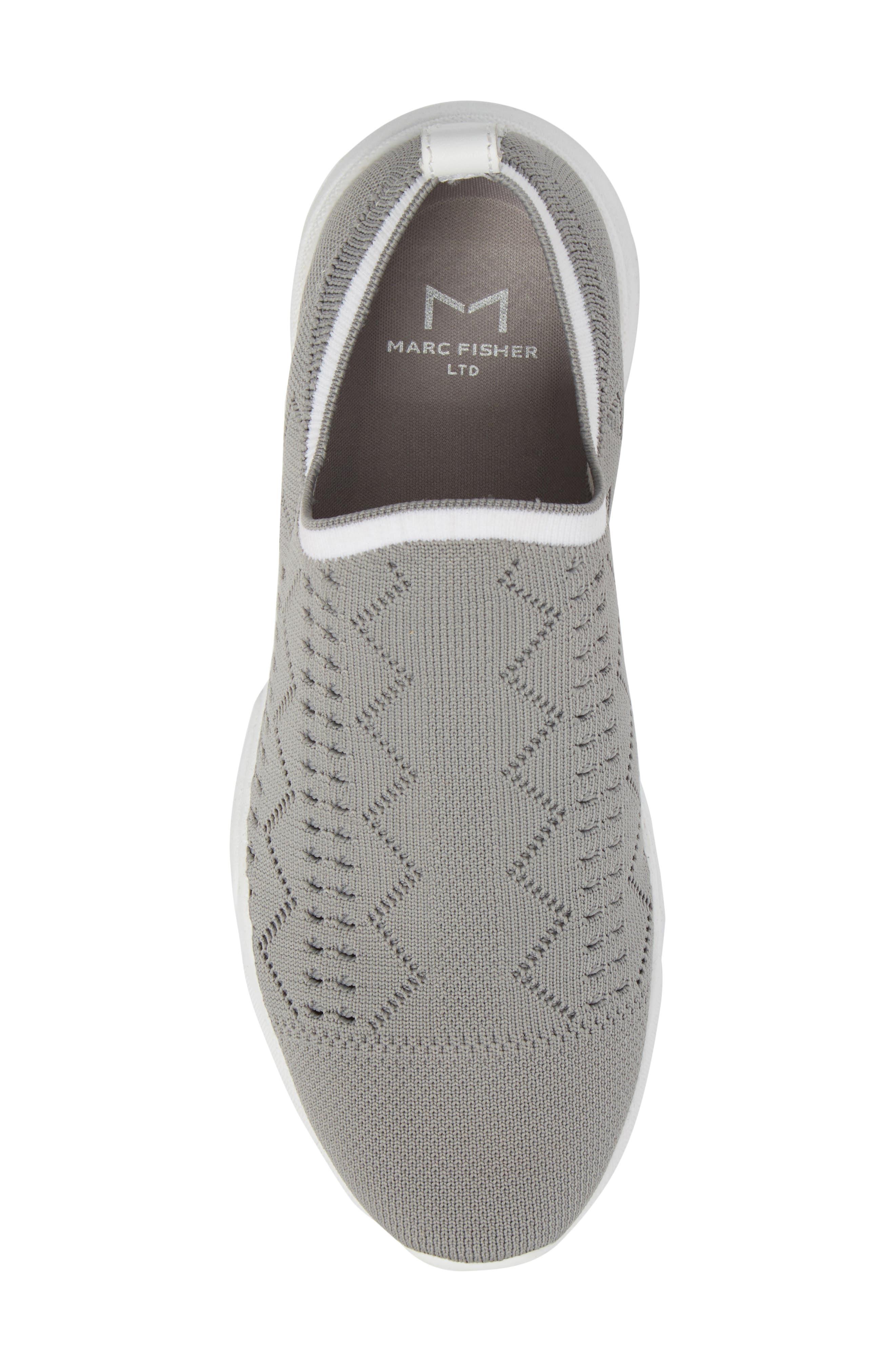 Karrie Slip-On Sneaker,                             Alternate thumbnail 5, color,                             Grey Stretch Fabric