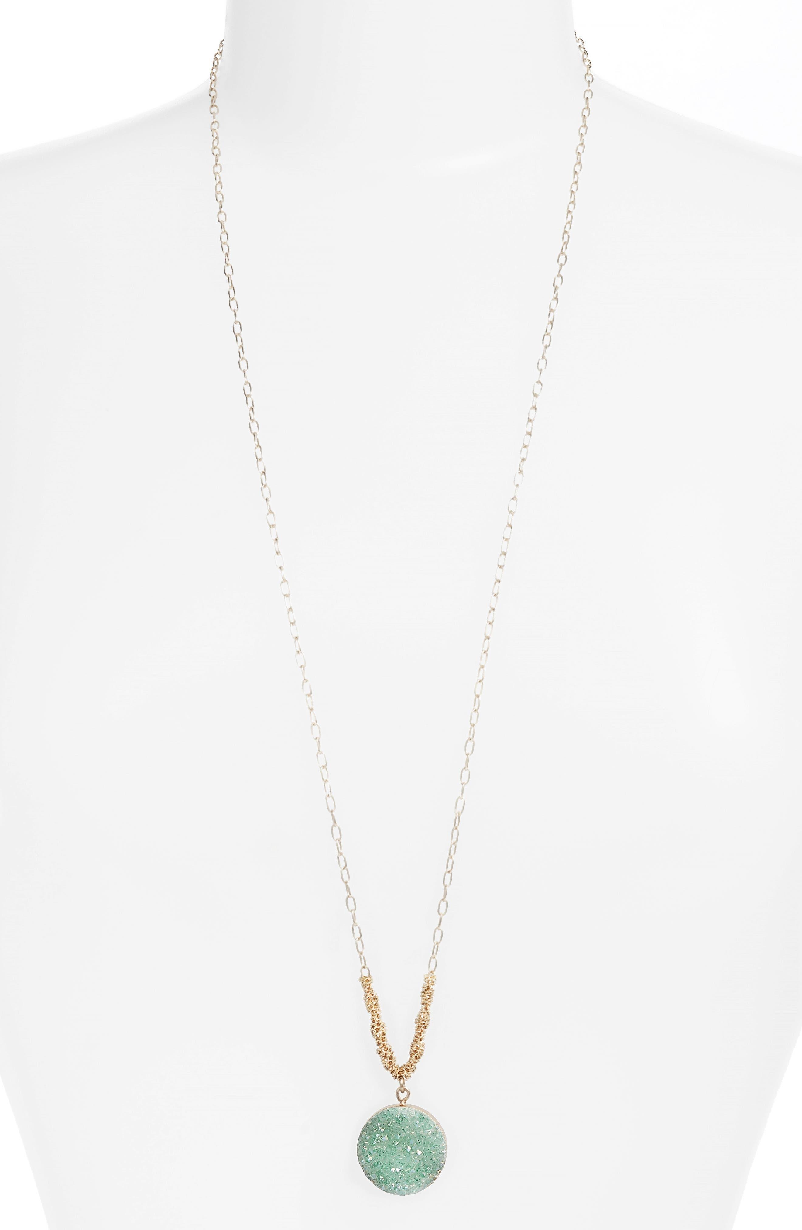 Treasure & Bond Drusy Amulet Pendant Necklace