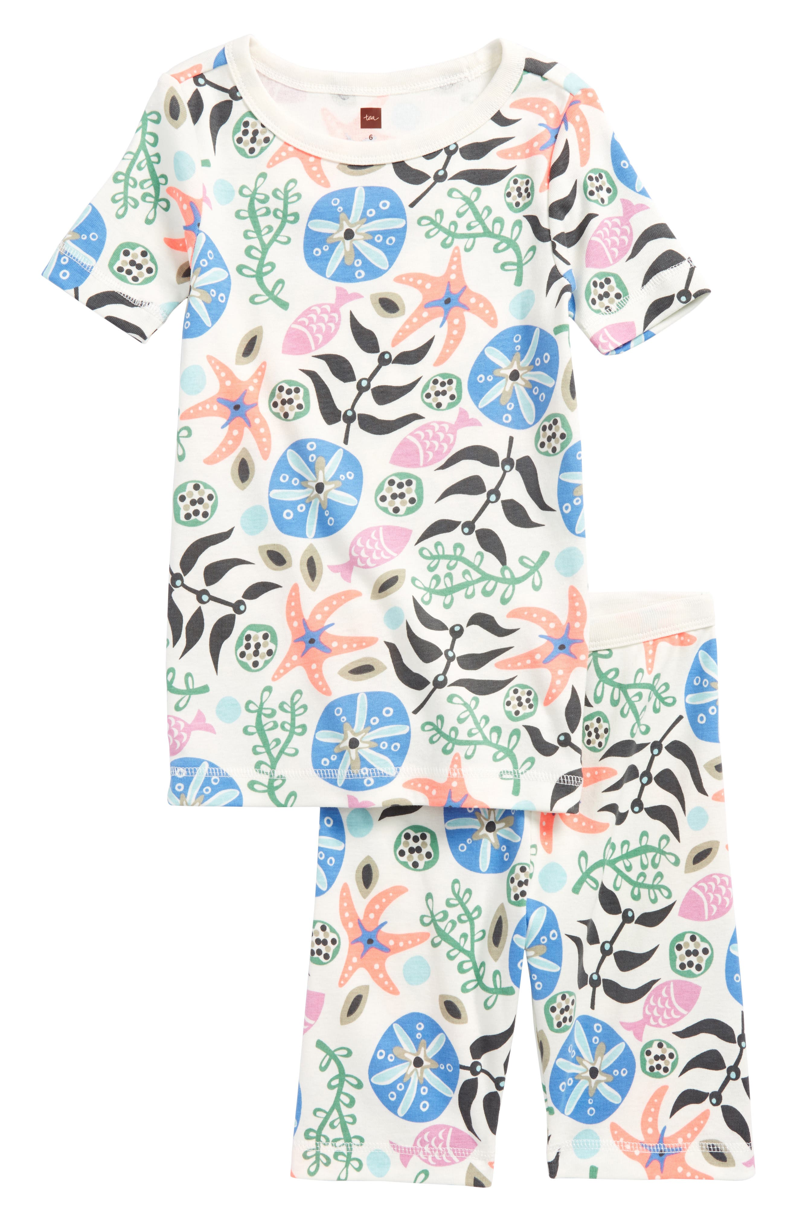Tea Collection Fitted Two-Piece Short Pajamas (Toddler Girls, Little Girls & Big Girls)