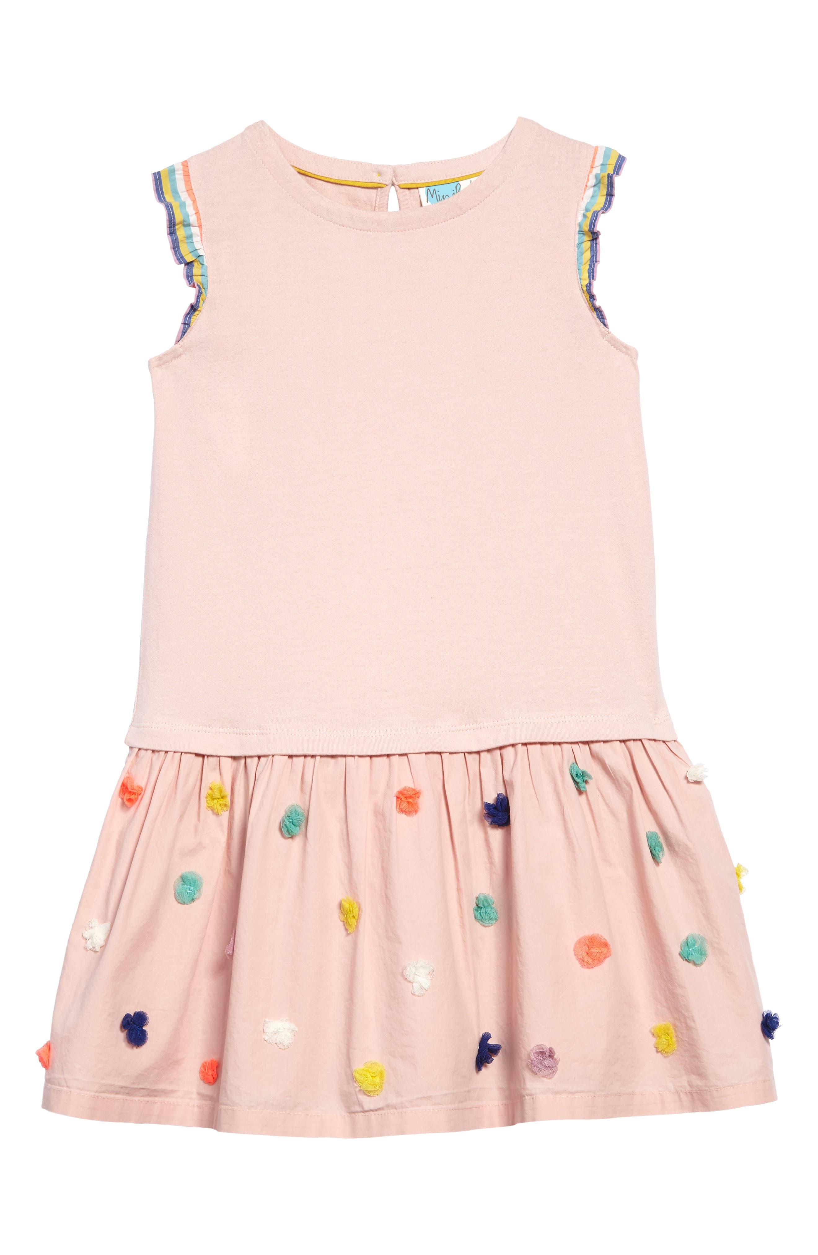 Main Image - Mini Boden Fun Knit-to-Woven Dress (Toddler Girls, Little Girls & Big Girls)
