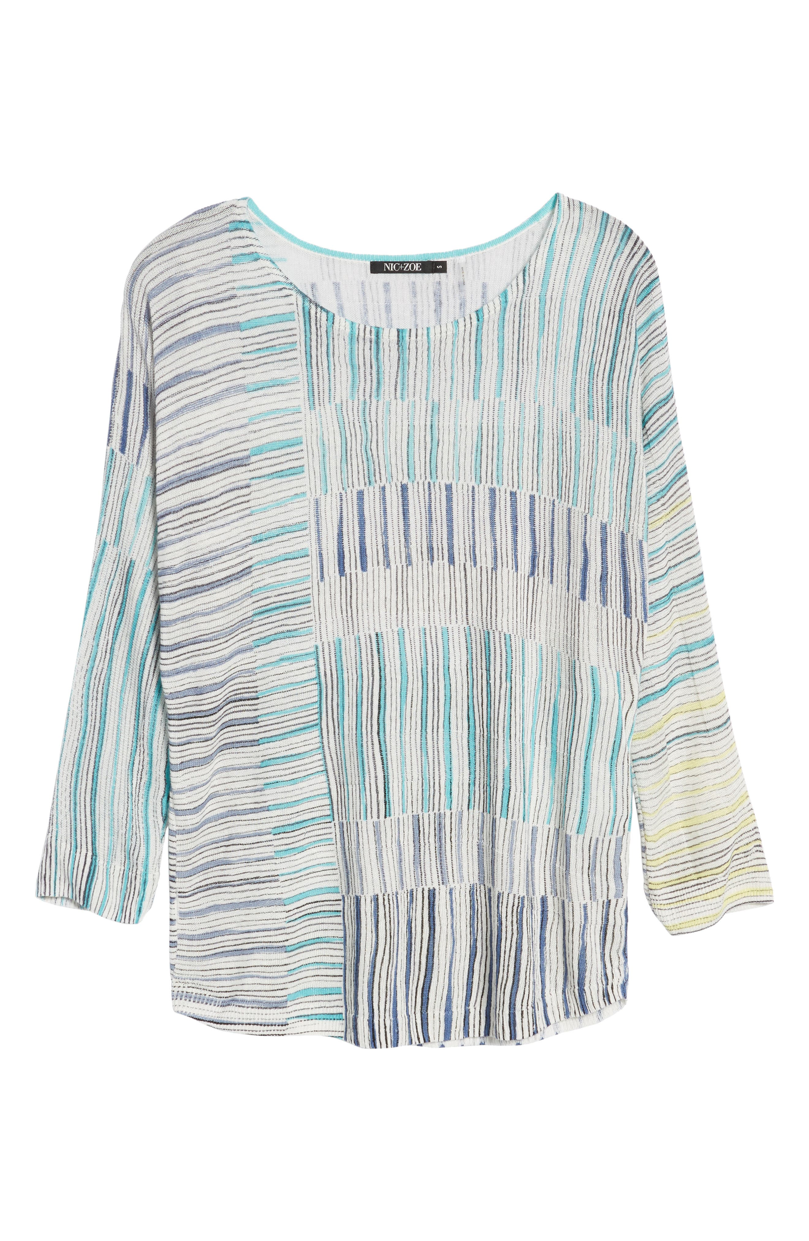 Sea Wall Stripe Top,                             Alternate thumbnail 6, color,                             Multi