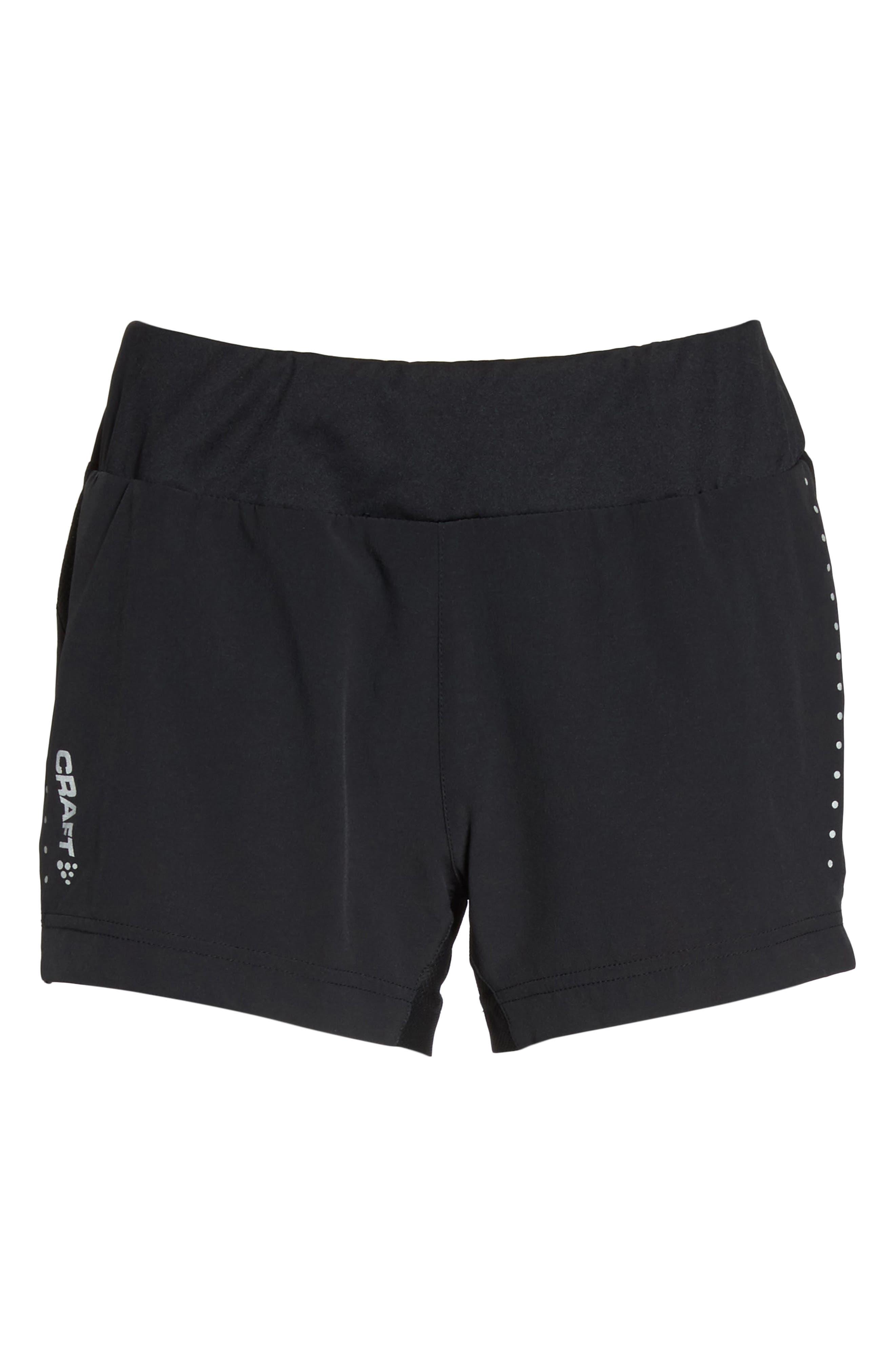 Essential Running Shorts,                             Alternate thumbnail 7, color,                             Black