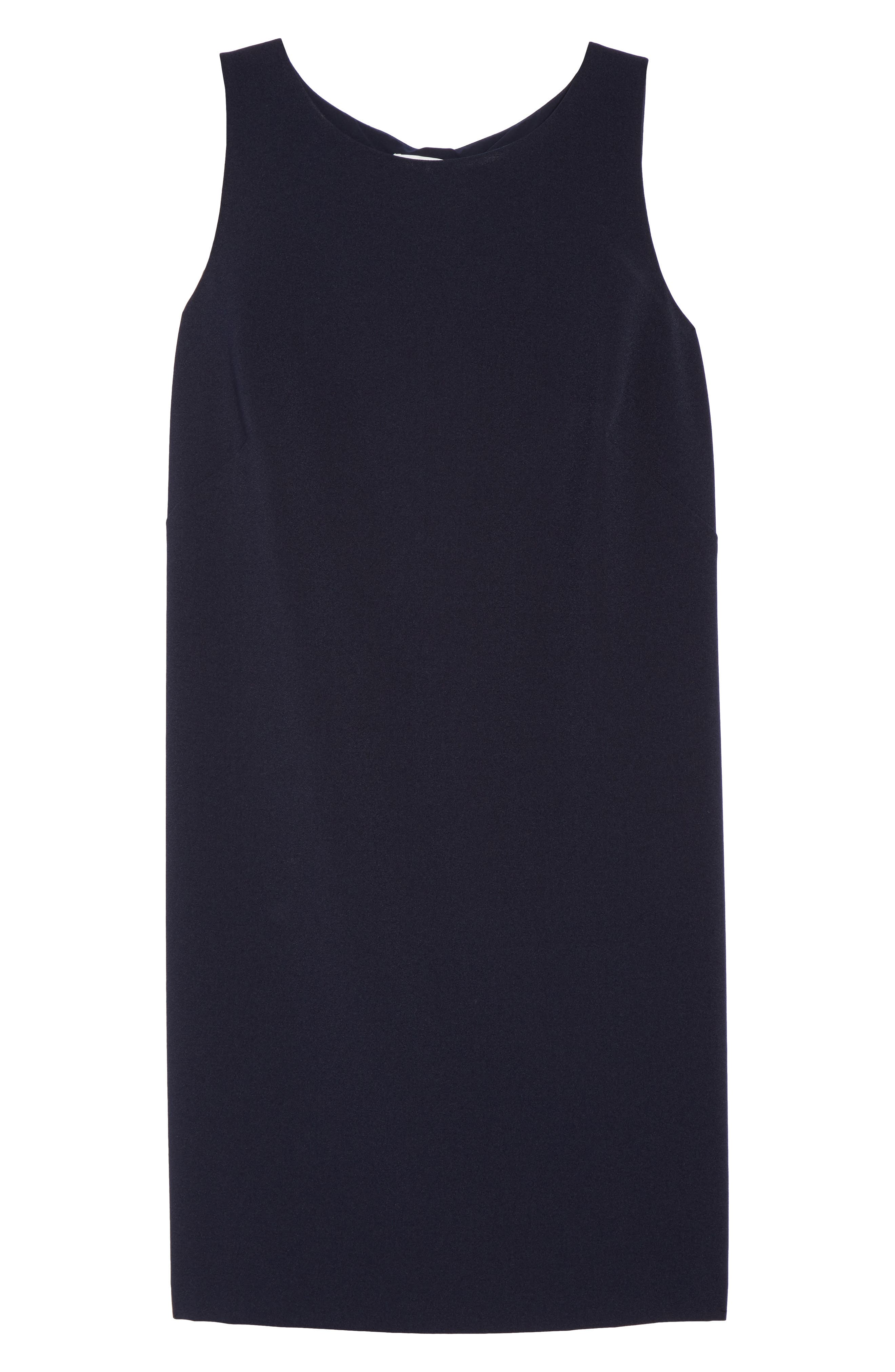 Bow Back Shift Dress,                             Alternate thumbnail 6, color,                             Navy