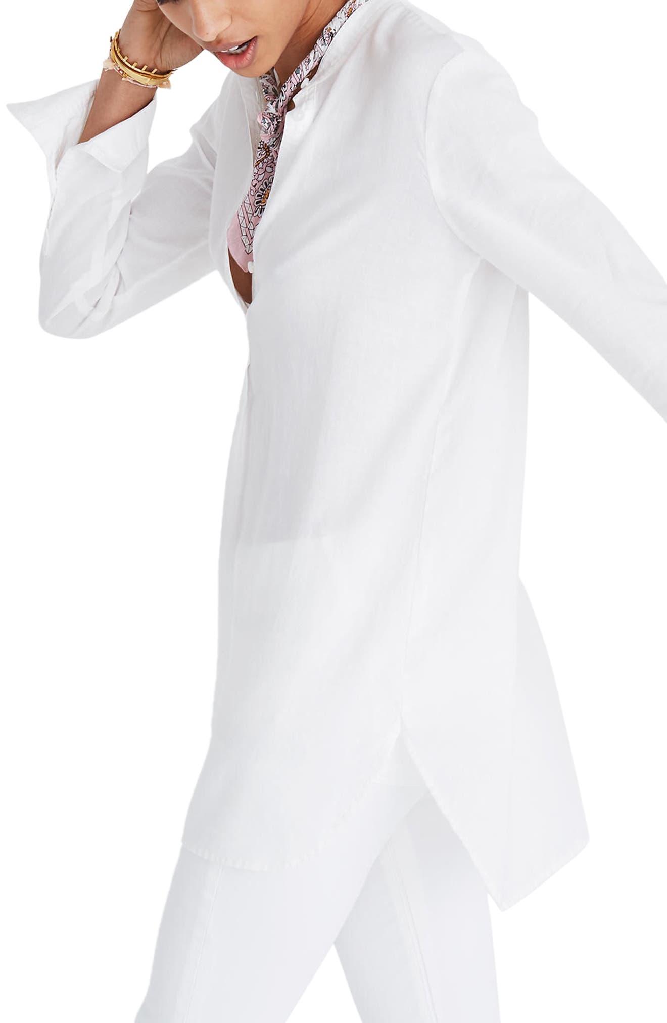 Wellspring Tunic Popover Shirt,                             Alternate thumbnail 3, color,                             Eyelet White