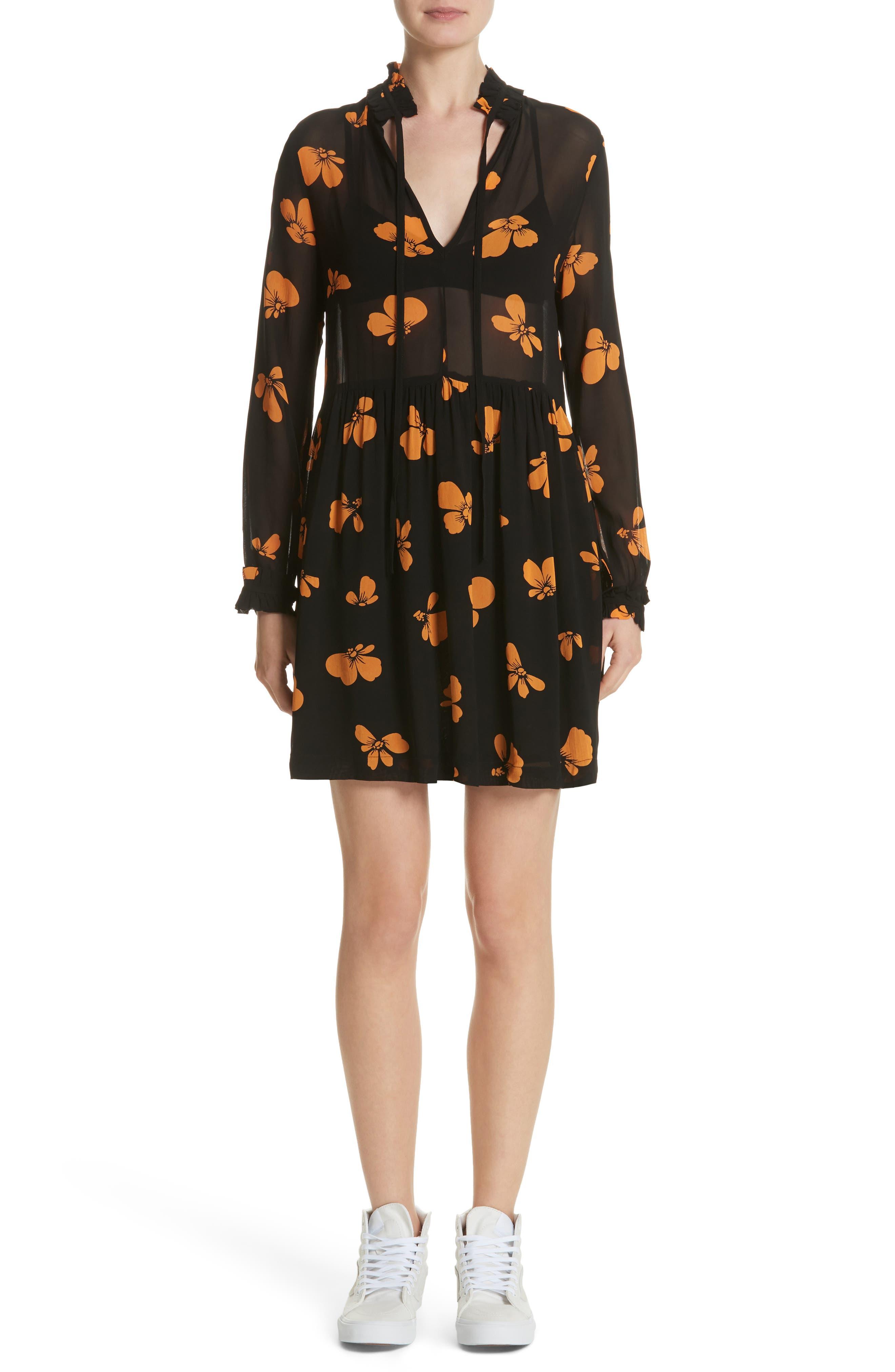 GANNI Fairfax Georgette Dress