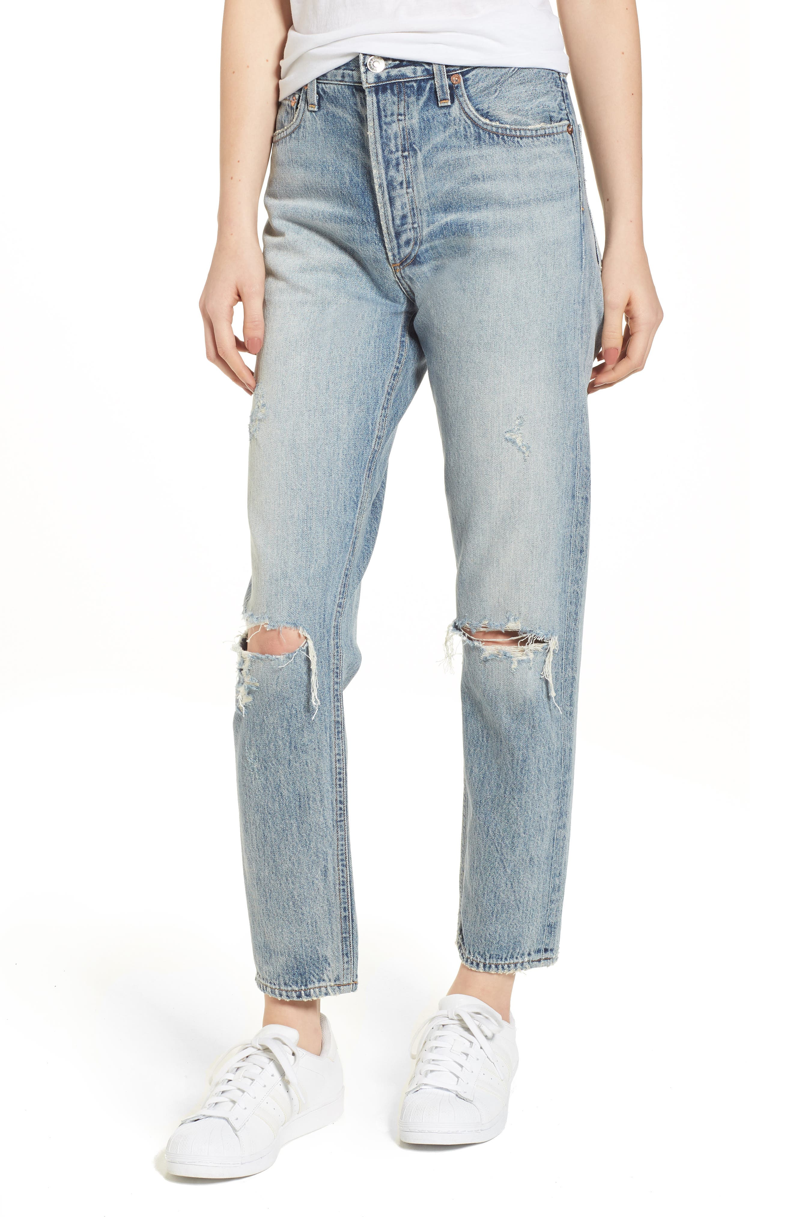 Jamie High Waist Ankle Jeans,                         Main,                         color, Resolution