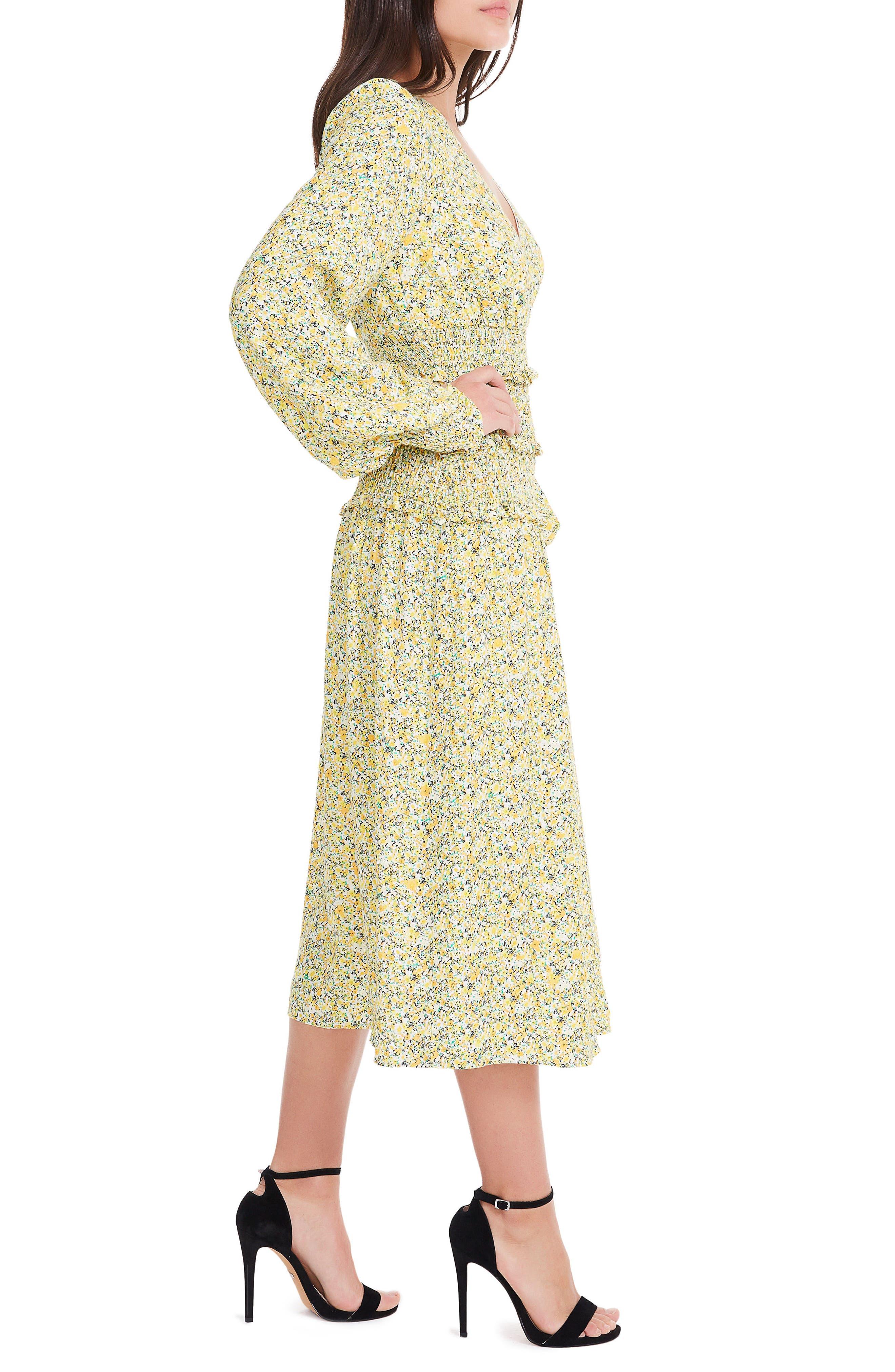 Alternate Image 4  - AFRM Hazel Smocked Midi Dress
