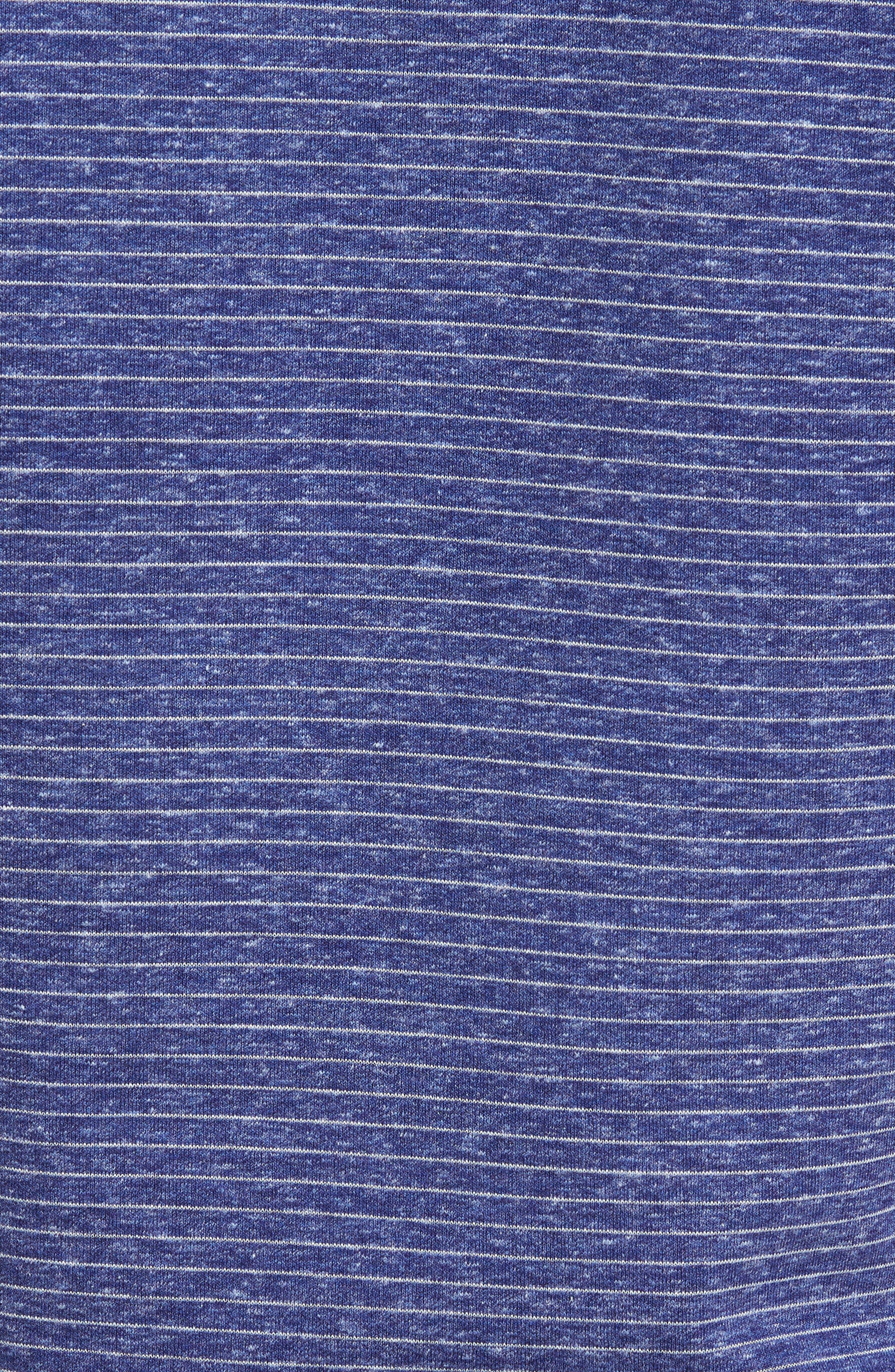 Regular Fit Stripe Quarter Zip Pullover,                             Alternate thumbnail 5, color,                             Night Blue