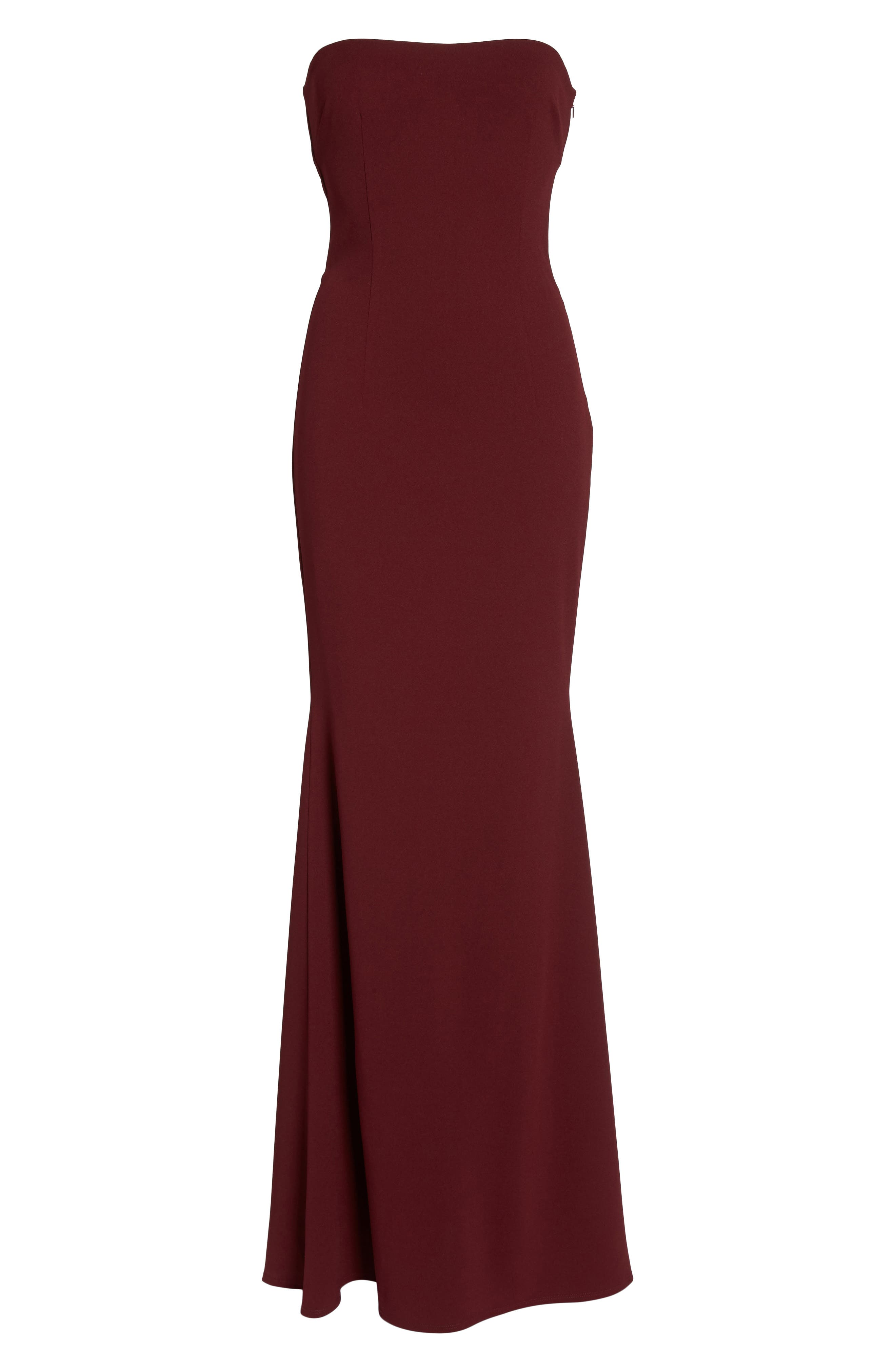 Alternate Image 6  - Katie May Strapless Cutout Back Gown