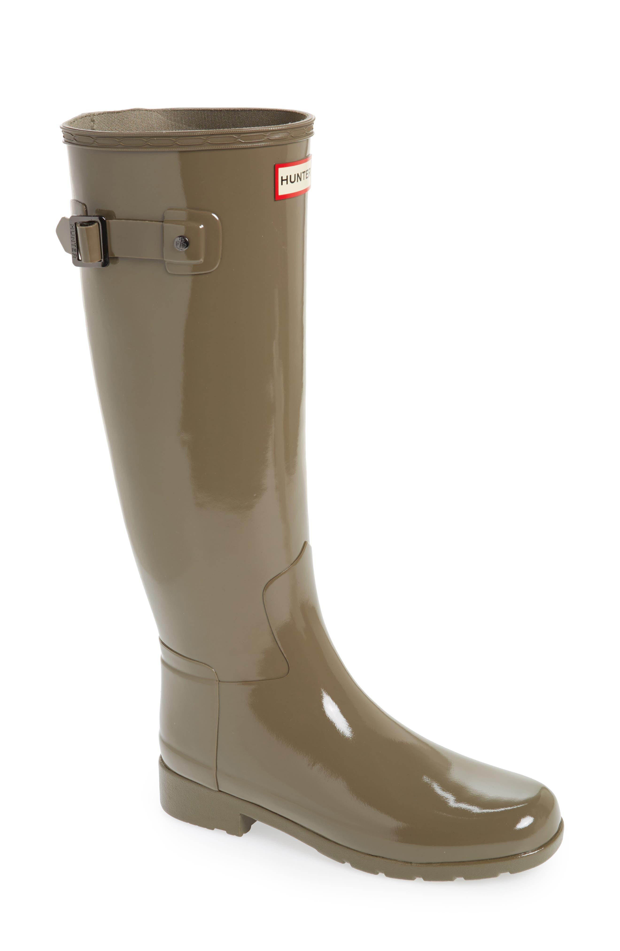 Hunter 'Original Refined' High Gloss Rain Boot (Women)