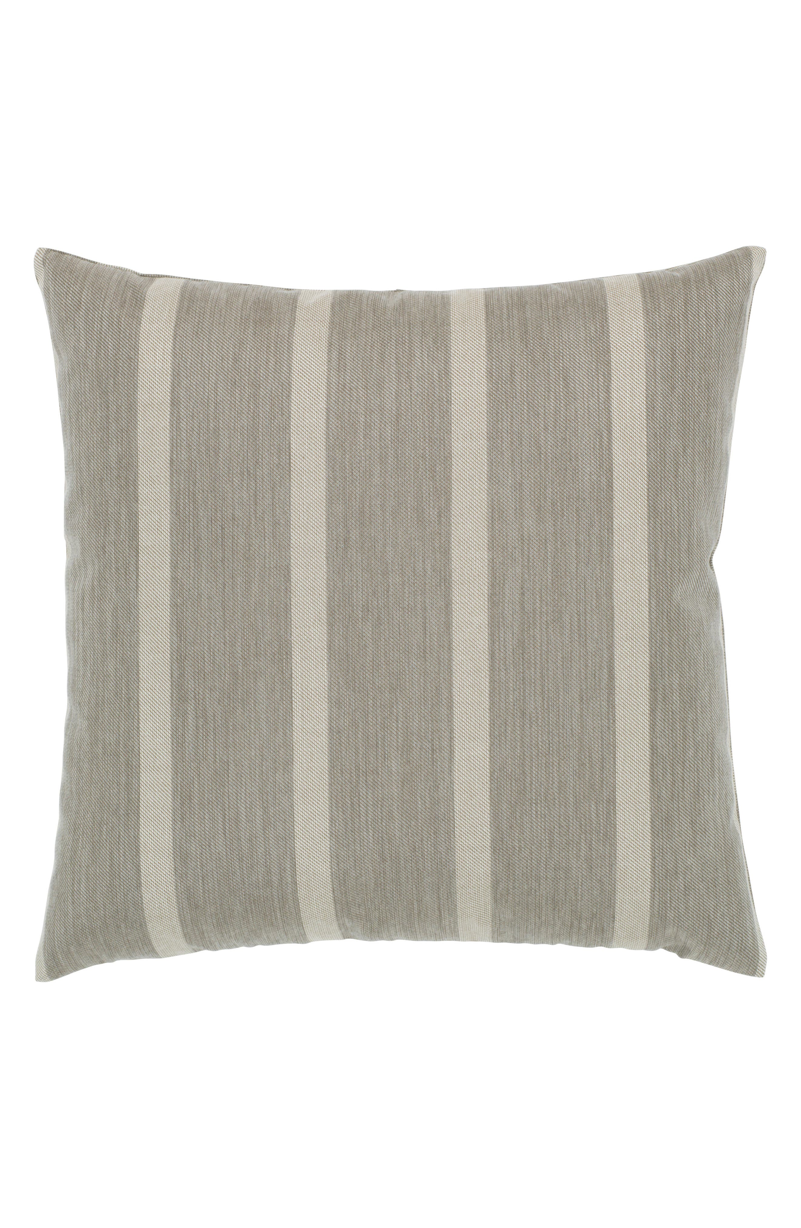 Sparkle Chevron Indoor/Outdoor Accent Pillow,                             Alternate thumbnail 3, color,                             Grey