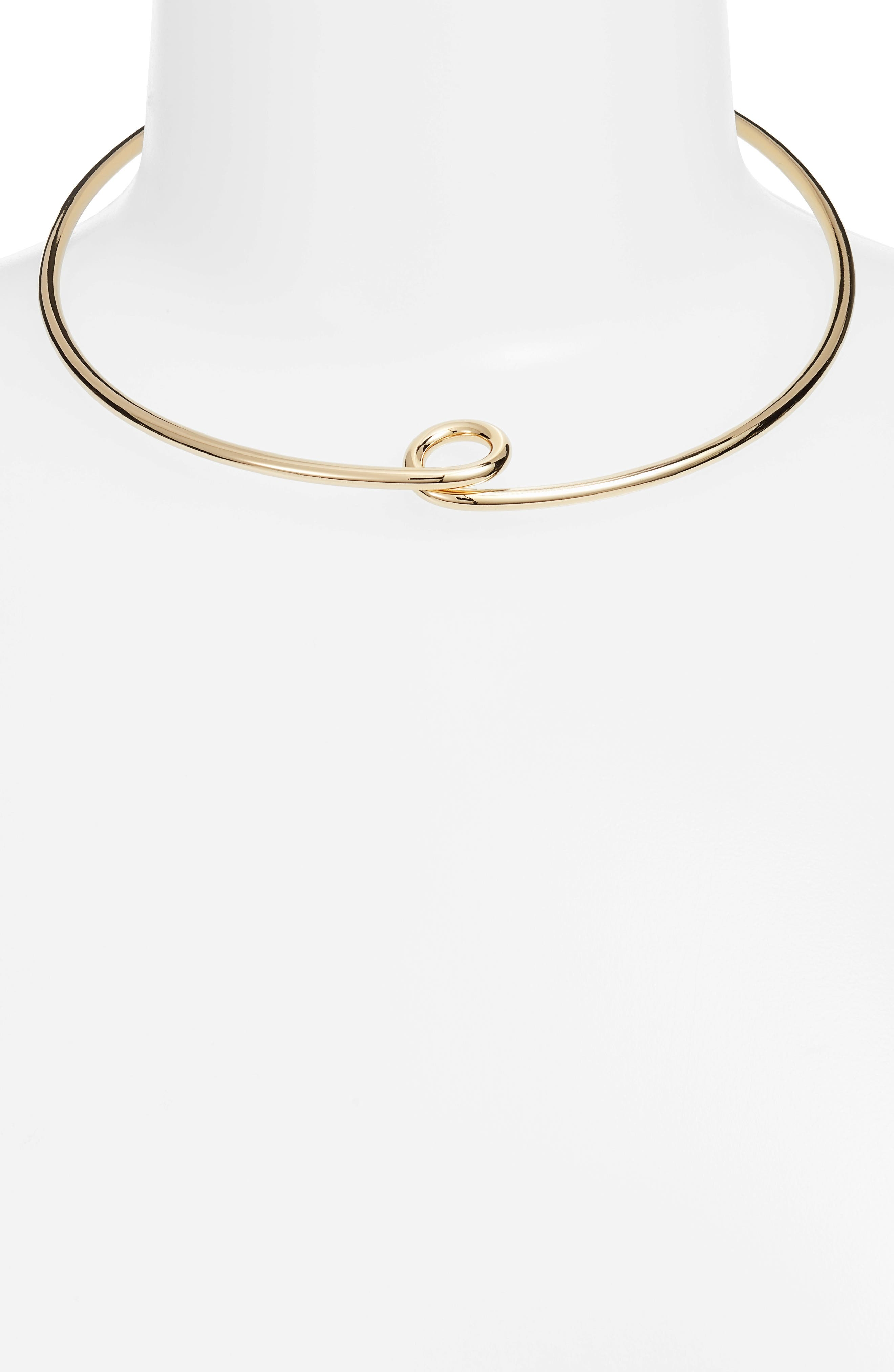 The Loop Collar Necklace,                             Alternate thumbnail 2, color,                             High Polish Gold