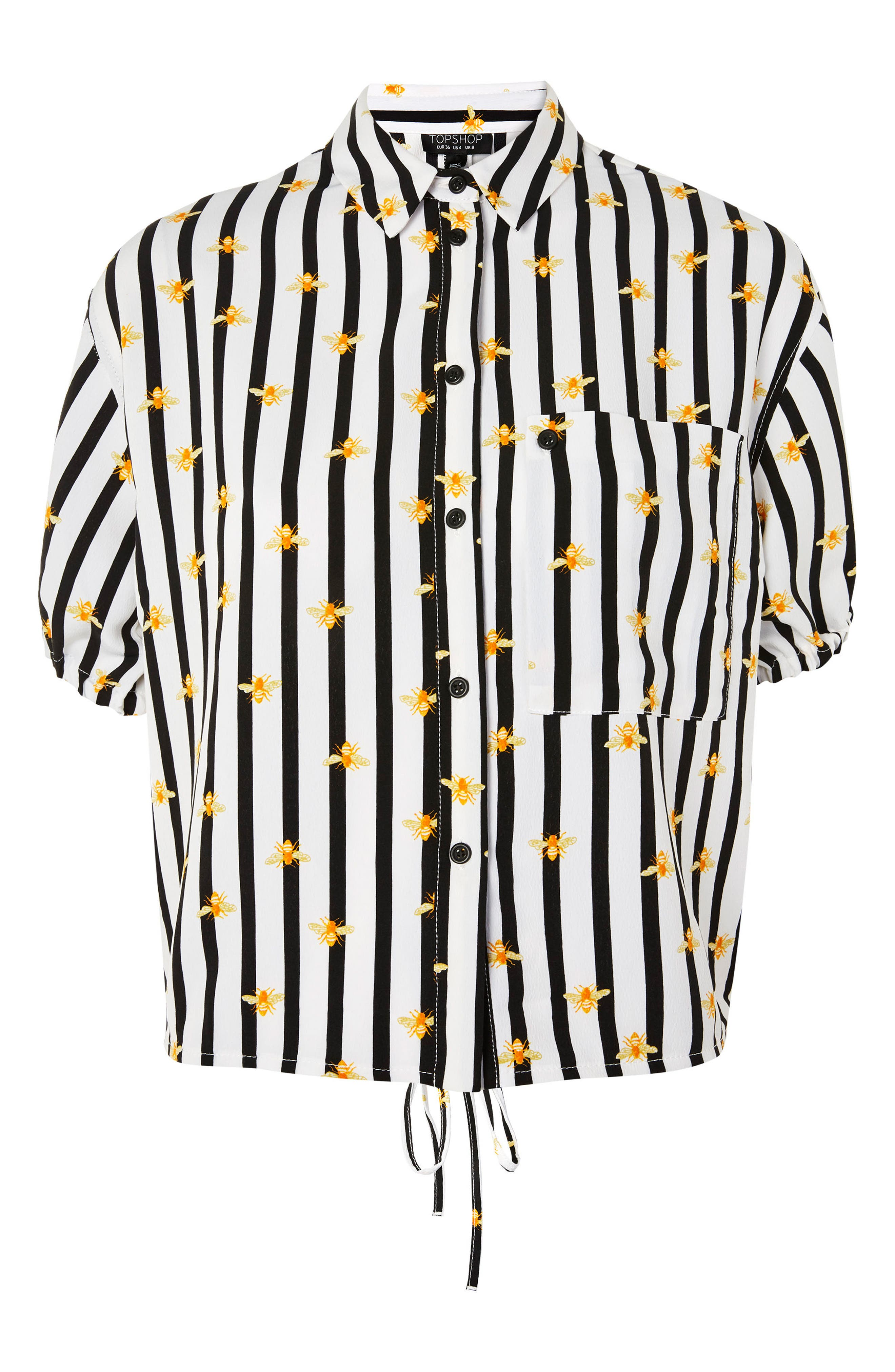 Alexa Bee Stripe Blouse,                             Alternate thumbnail 3, color,                             Black Multi