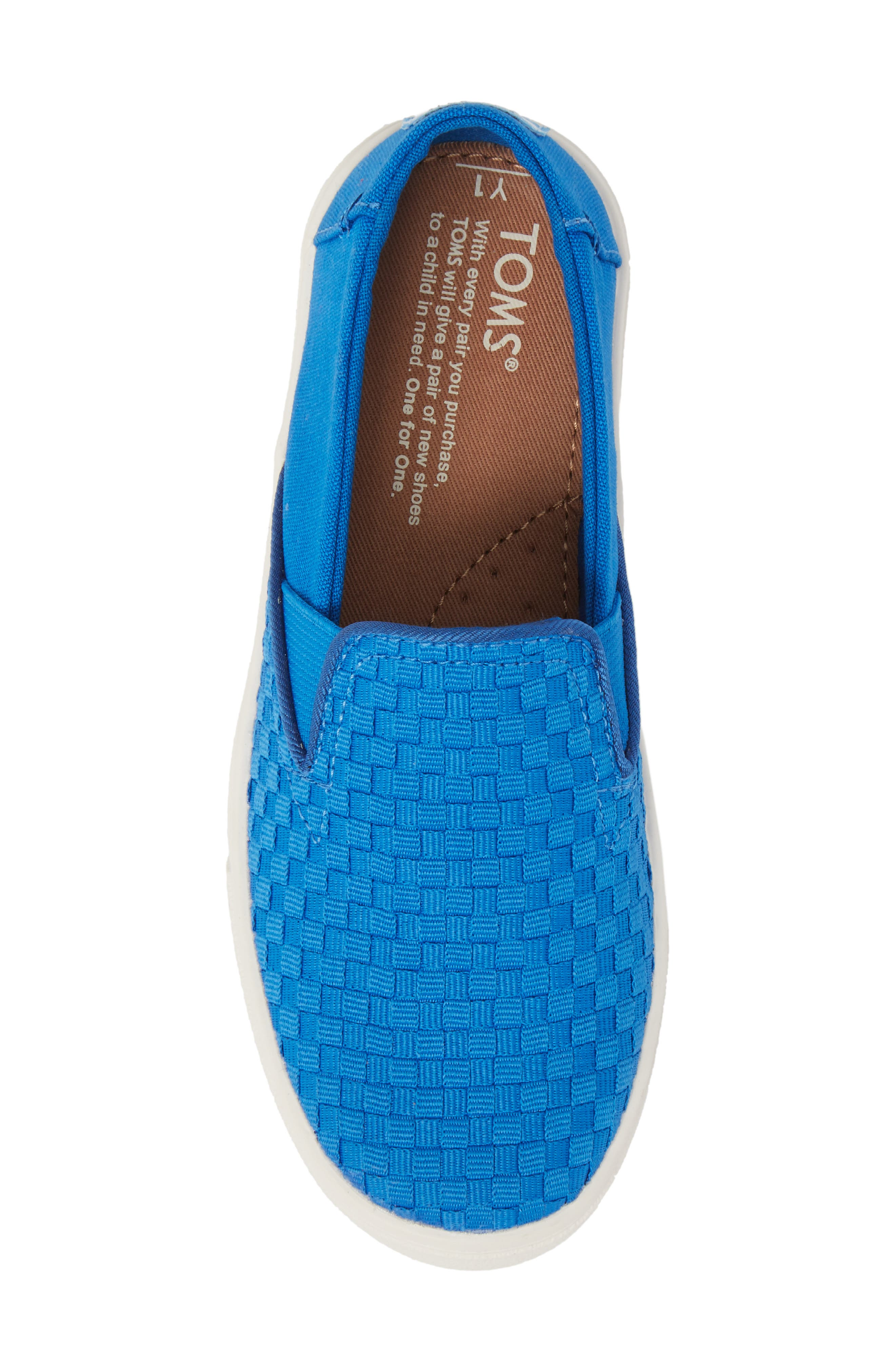 Luca Slip-On Sneaker,                             Alternate thumbnail 5, color,                             Imperial Blue Basketweave