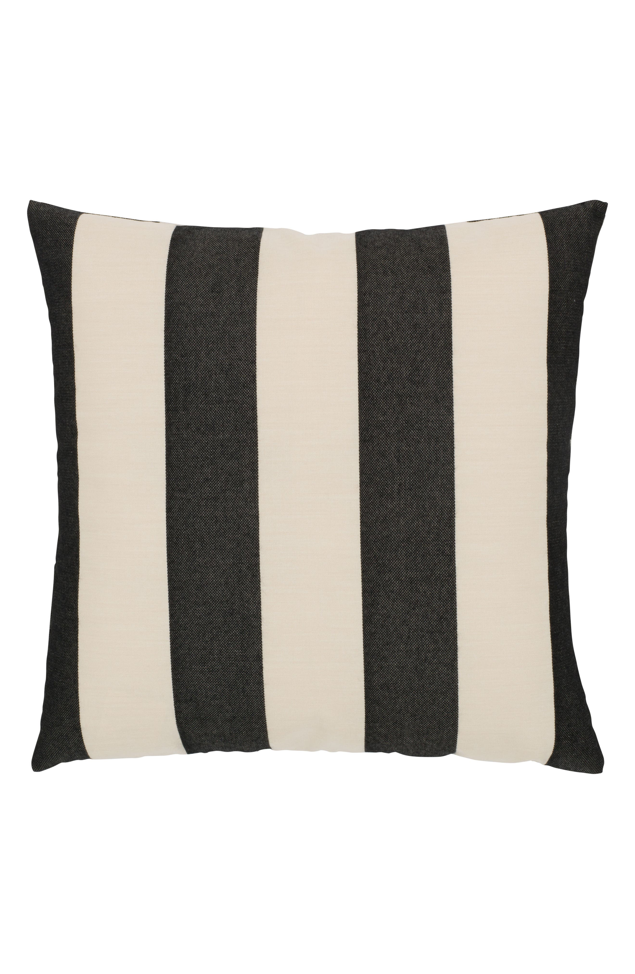 Harmony Chevron Indoor/Outdoor Accent Pillow,                             Alternate thumbnail 2, color,                             Black/ White