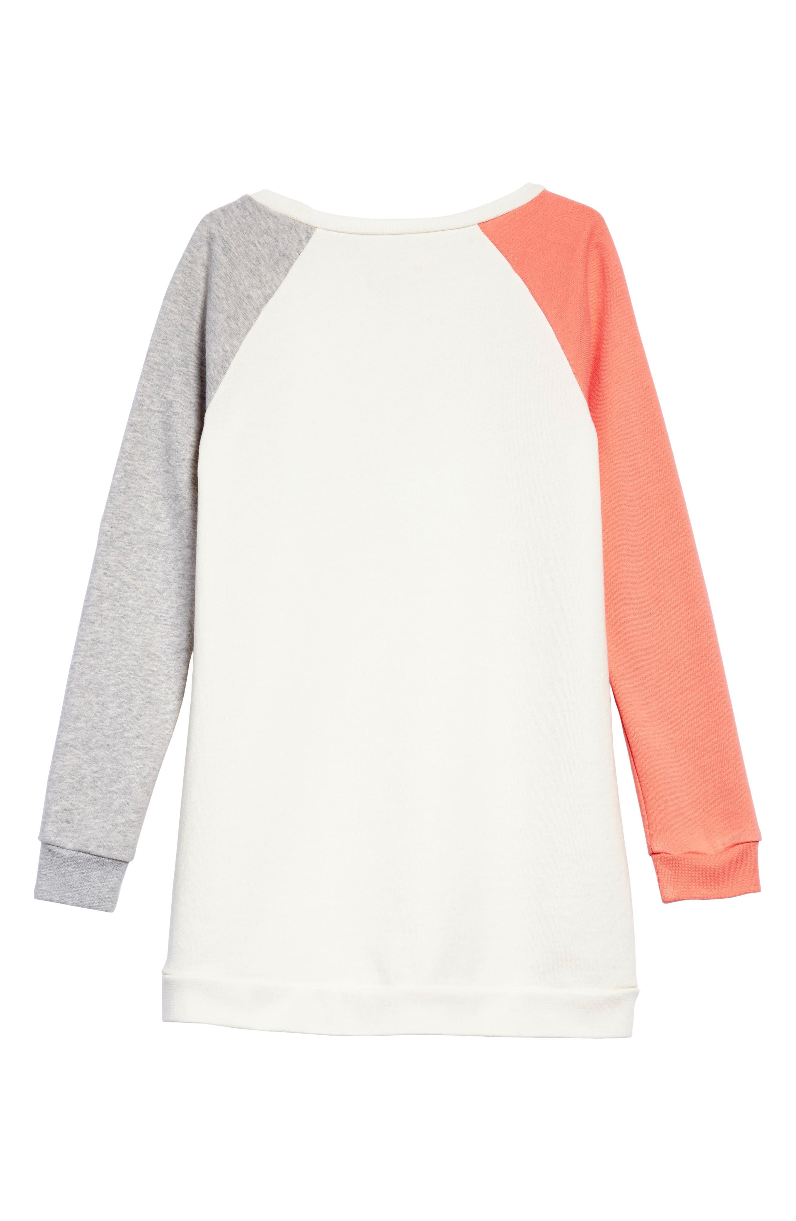 Sweatshirt Dress,                             Alternate thumbnail 2, color,                             Ivory Egret Daydream