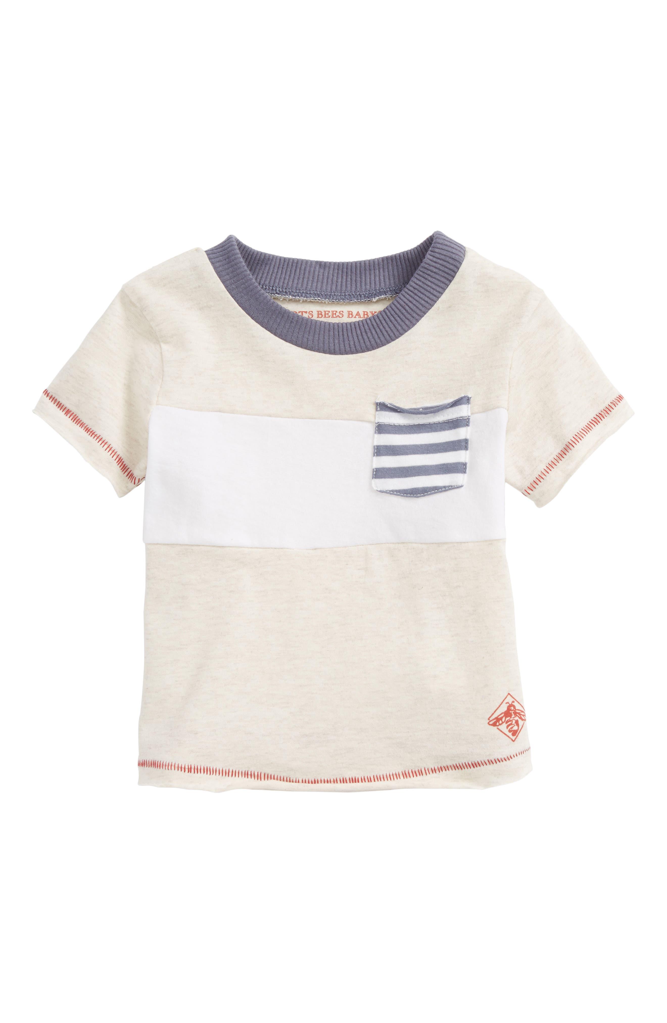 Alternate Image 1 Selected - Burt's Bees Baby Organic Cotton Pocket T-Shirt (Baby Boys)