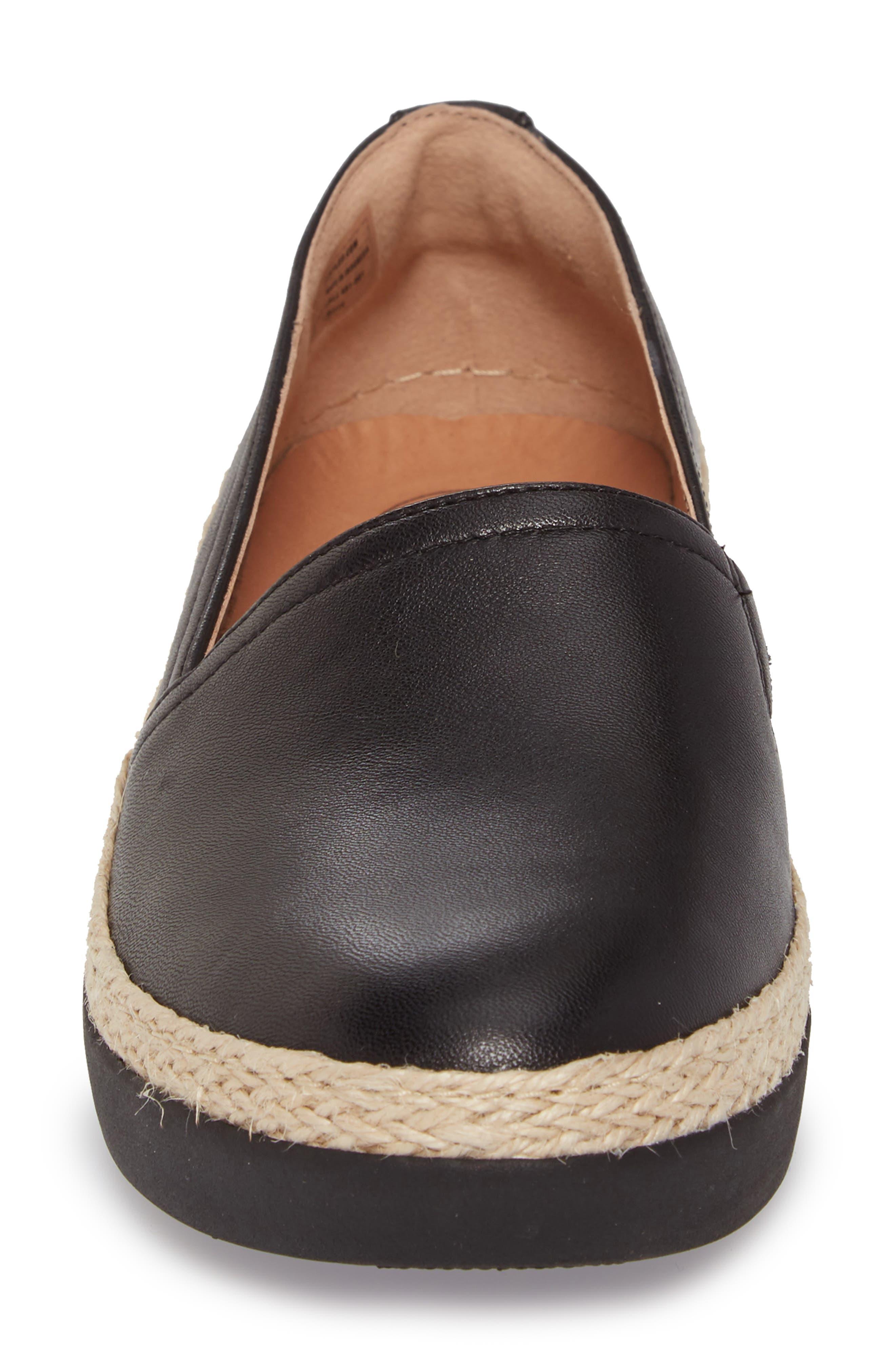 Casa Loafer,                             Alternate thumbnail 4, color,                             Black Leather