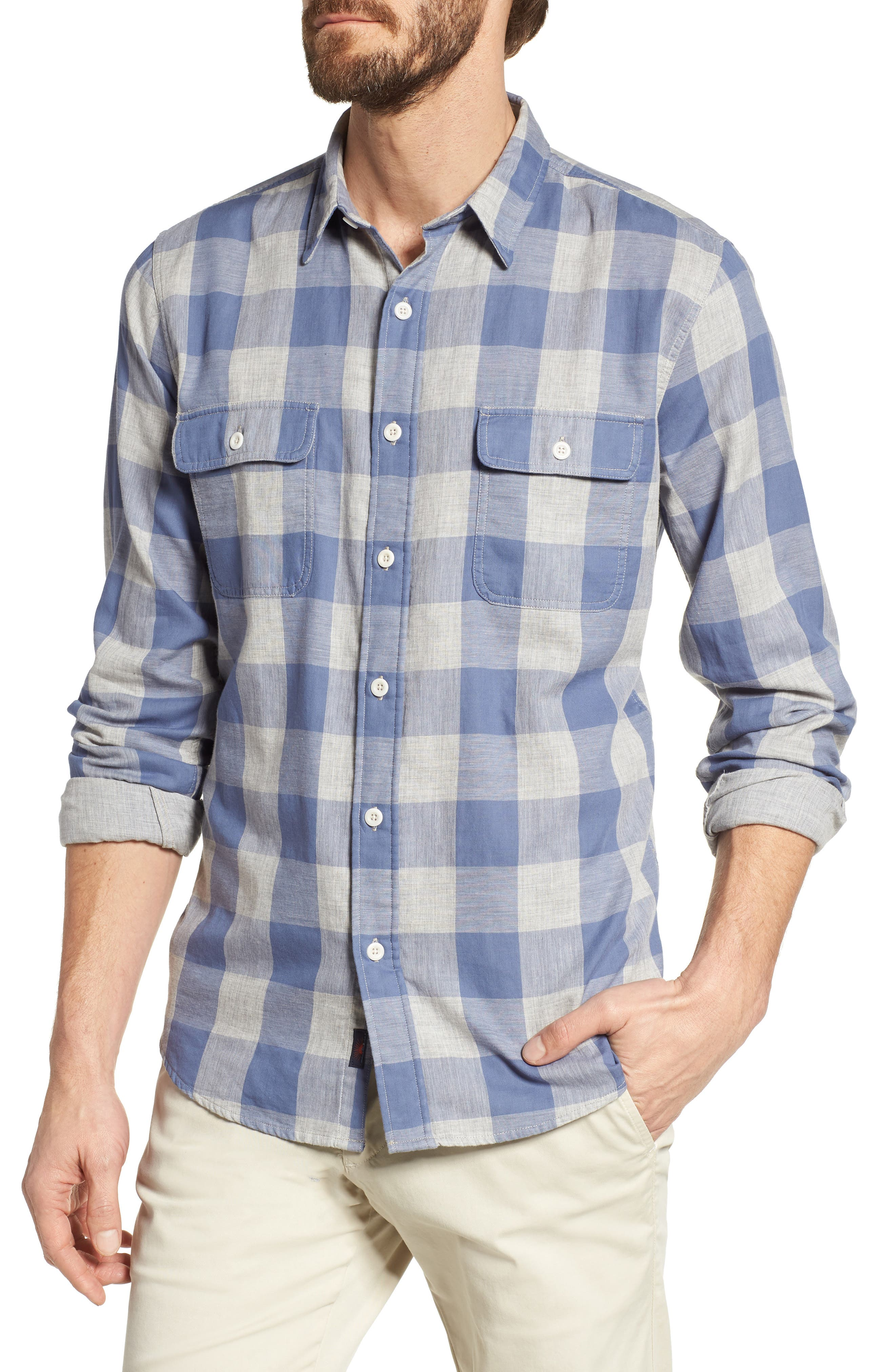 Faherty Belmar Check Double Cloth Shirt