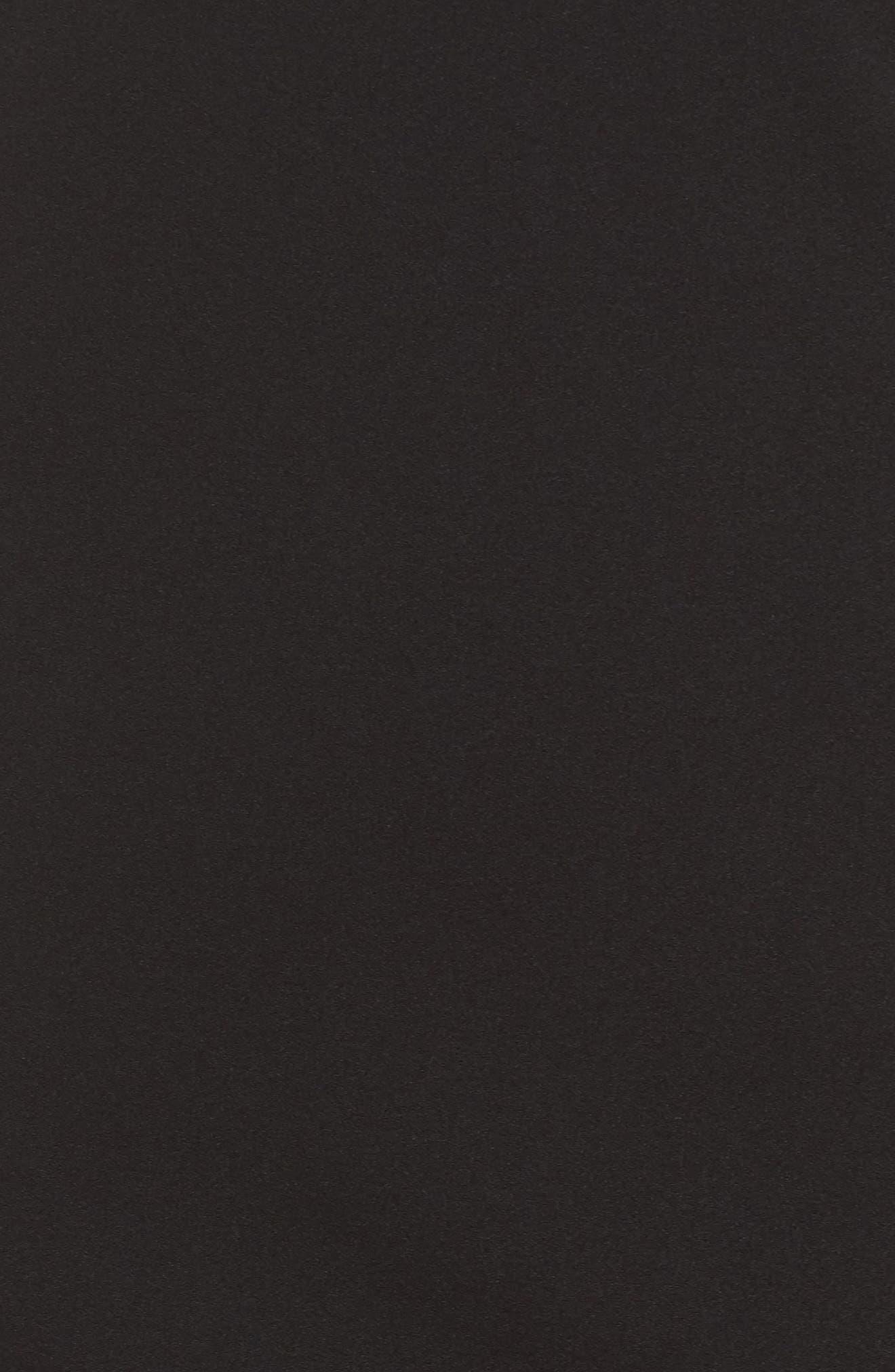 One-Shoulder Ruffle Dress,                             Alternate thumbnail 5, color,                             Black