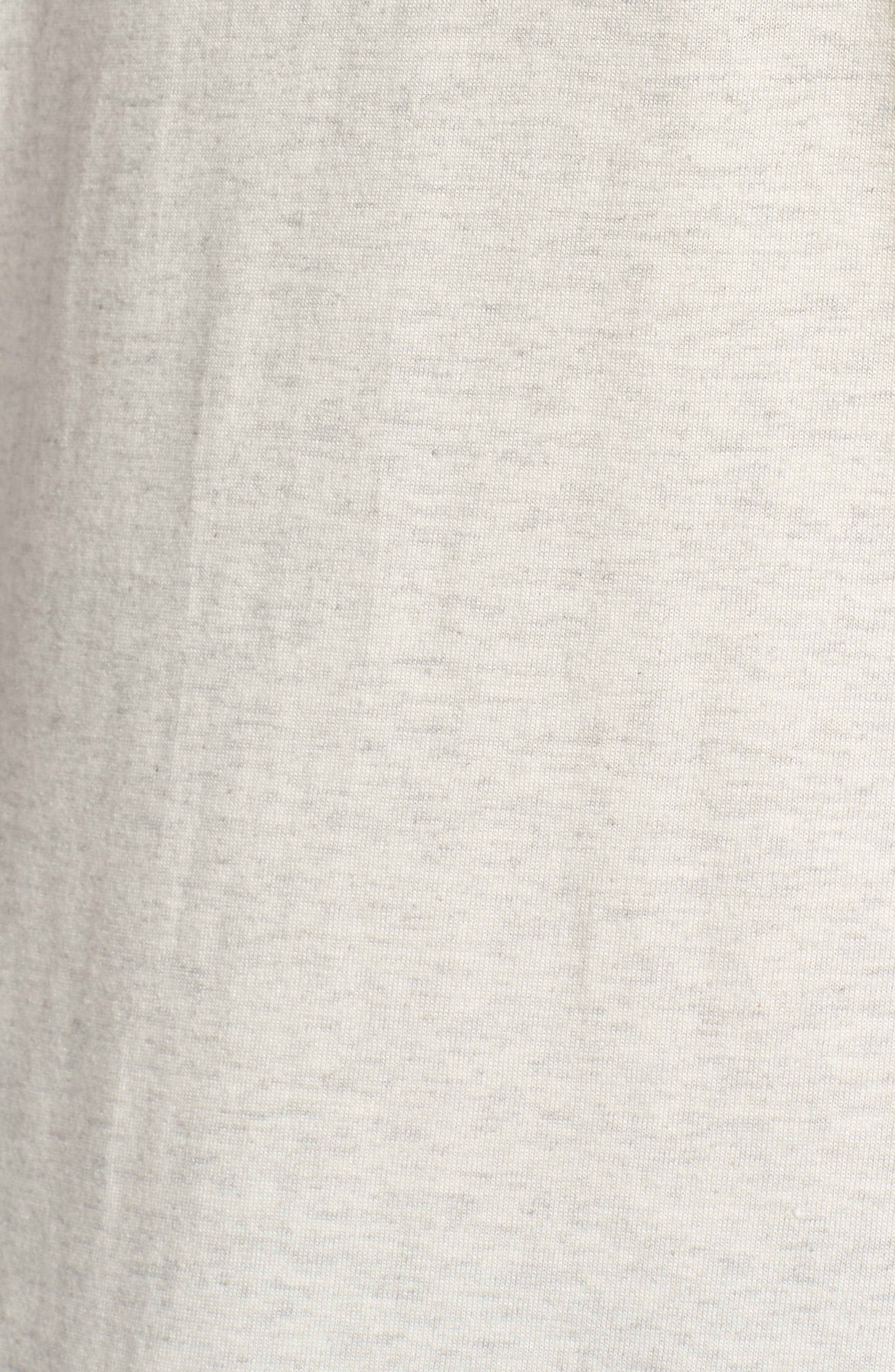 Supreme Comfort Crewneck T-Shirt,                             Alternate thumbnail 5, color,                             Sand Heather/ Bright Navy