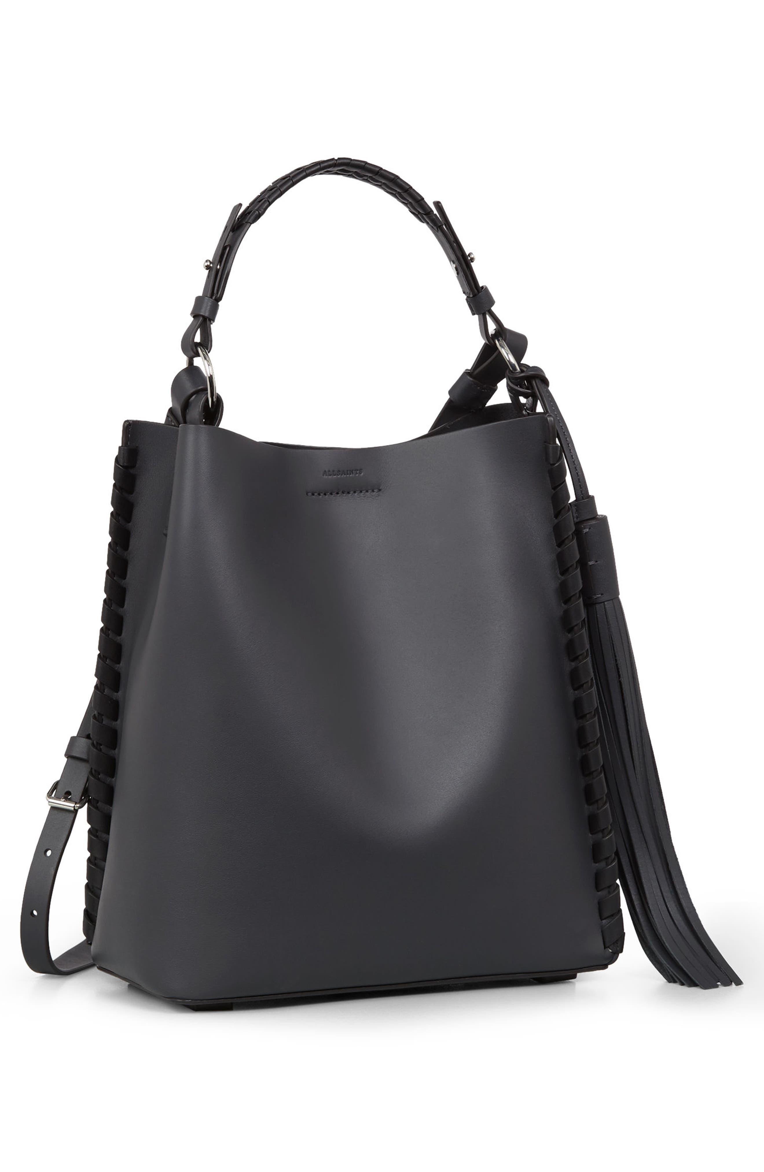 Alternate Image 5  - ALLSAINTS Kepi Leather Shoulder Bag